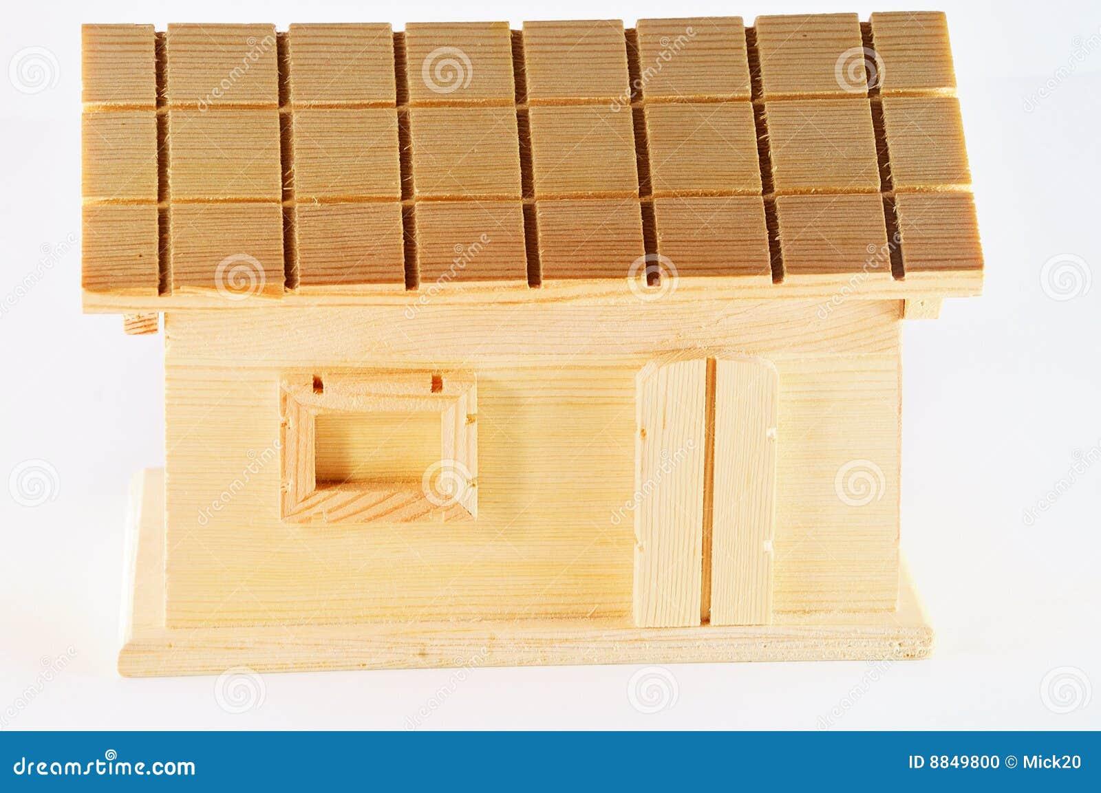Huis van hout stock foto beeld 8849800 for Hout huis