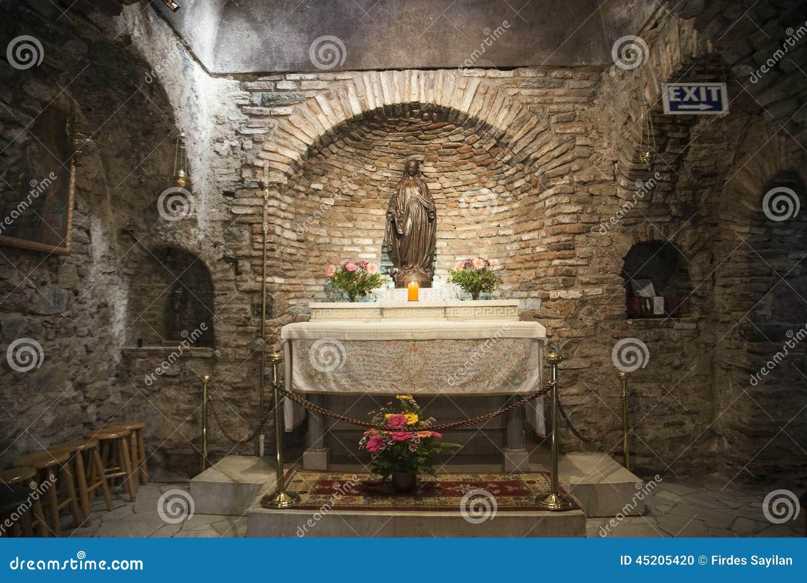 Huis van Maagdelijke Mary in Ephesos, Turkije