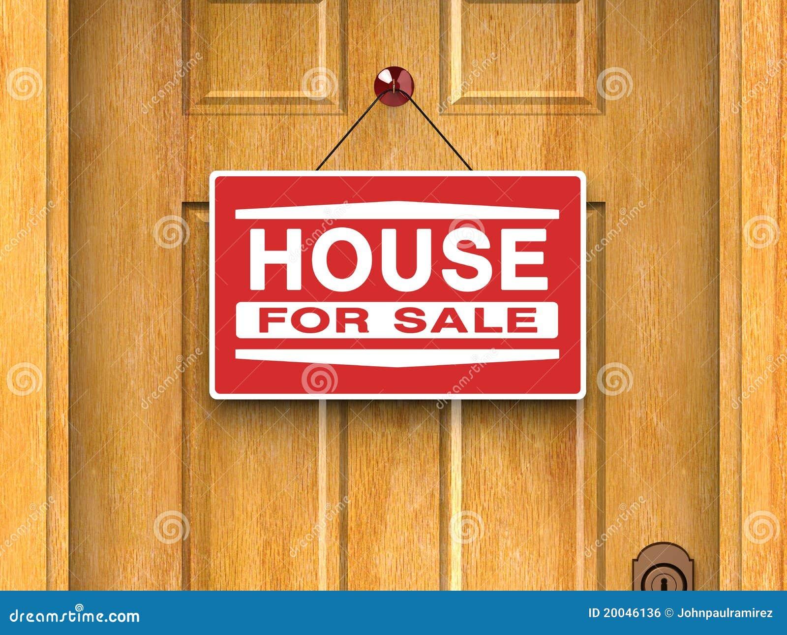 Huis voor onroerende goederen verkoop huis deur stock for Huis aantrekkelijk maken voor verkoop