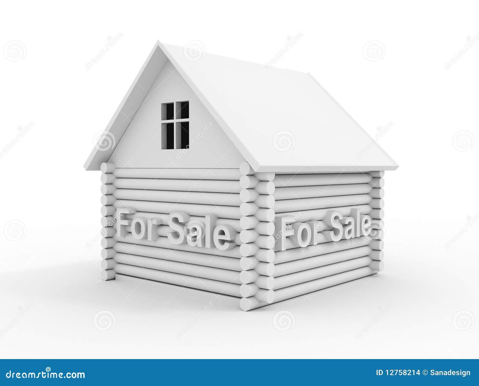Huis voor verkoop stock illustratie afbeelding bestaande uit beeldverhaal 12758214 - Huis verkoop ...