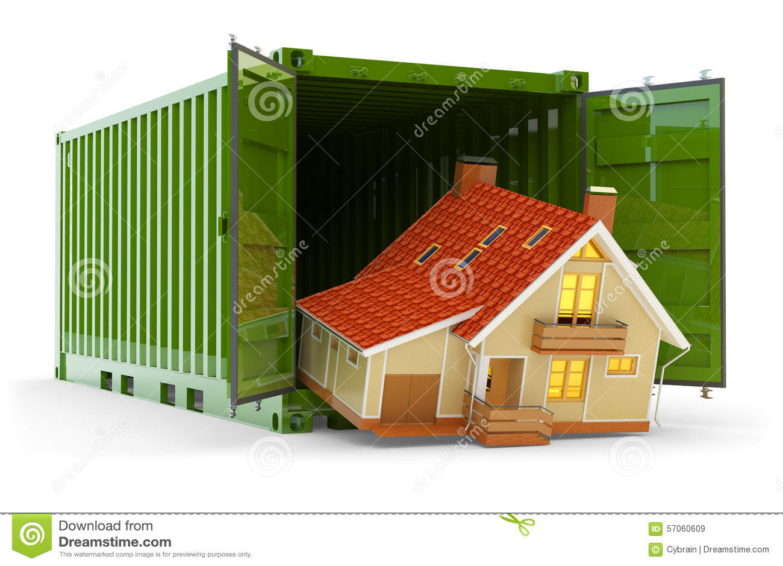 Huisbeweging, huisaankoop, vrachtvervoer en leveringsconcept