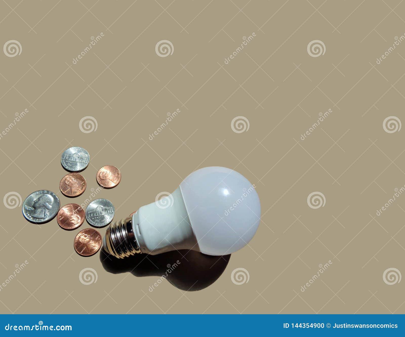 Huishouden LEIDENE Energie - besparings Gloeilamp met Muntstukken