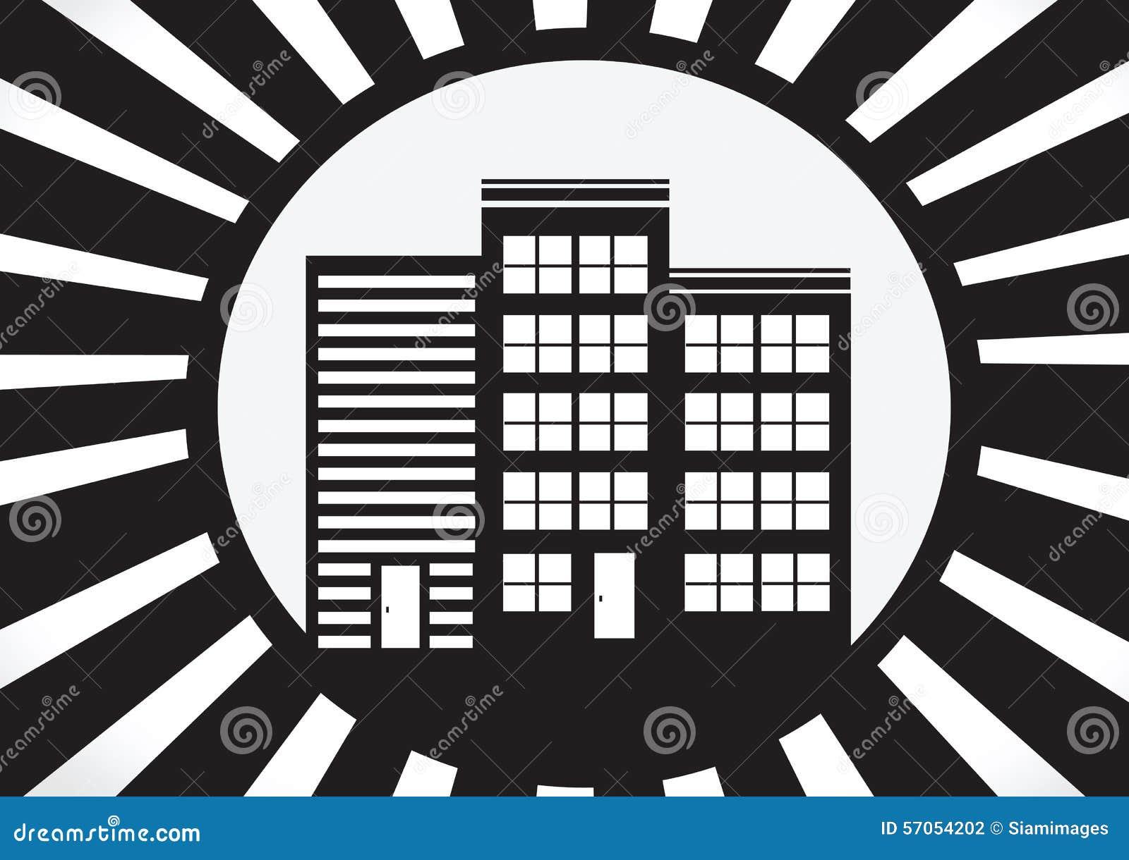 Huispictogram en Onroerende goederenconcept