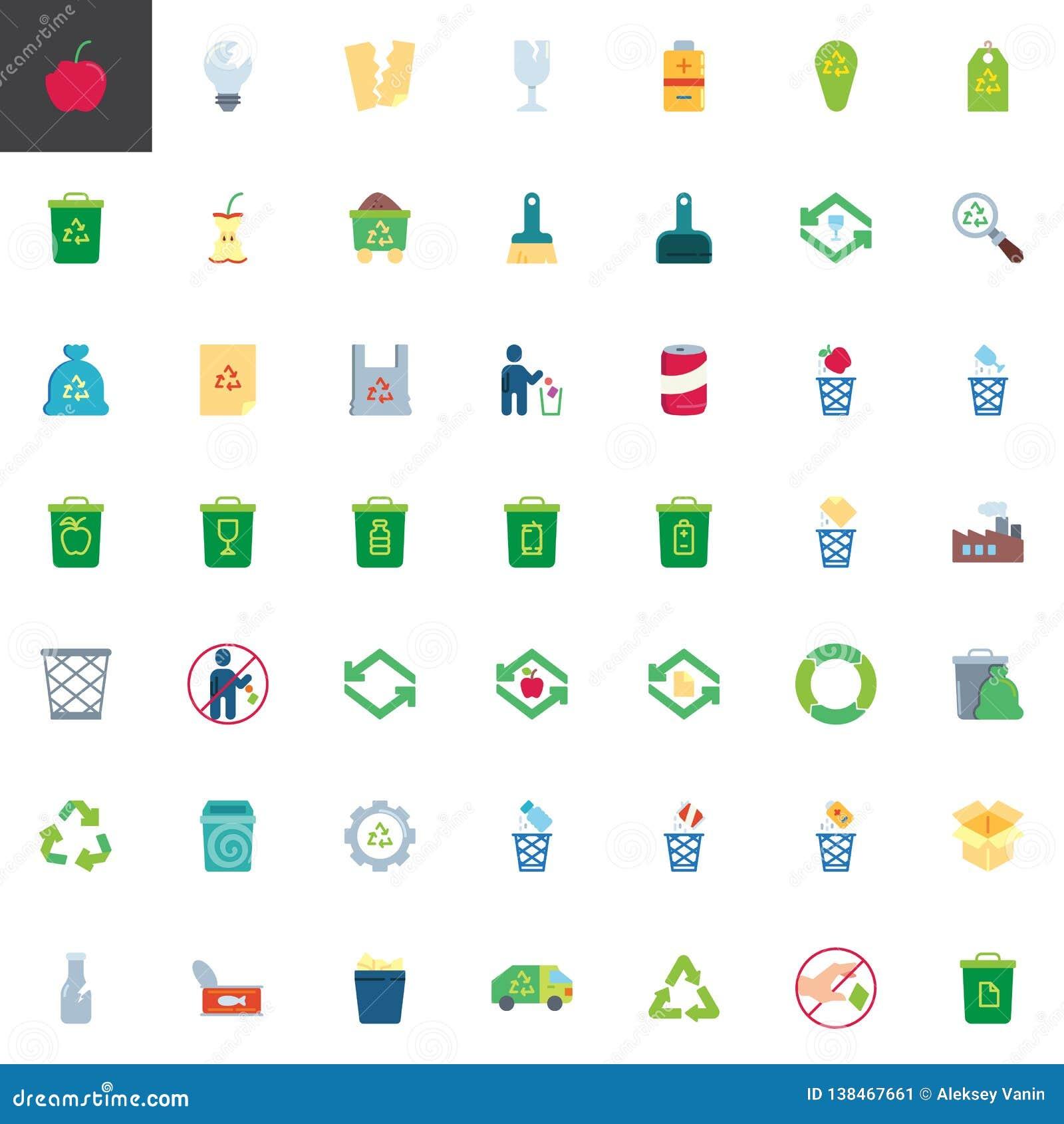 Huisvuil de inzameling van recyclingselementen
