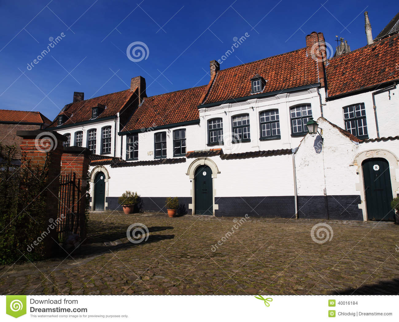 Huizen in Beguinage in België