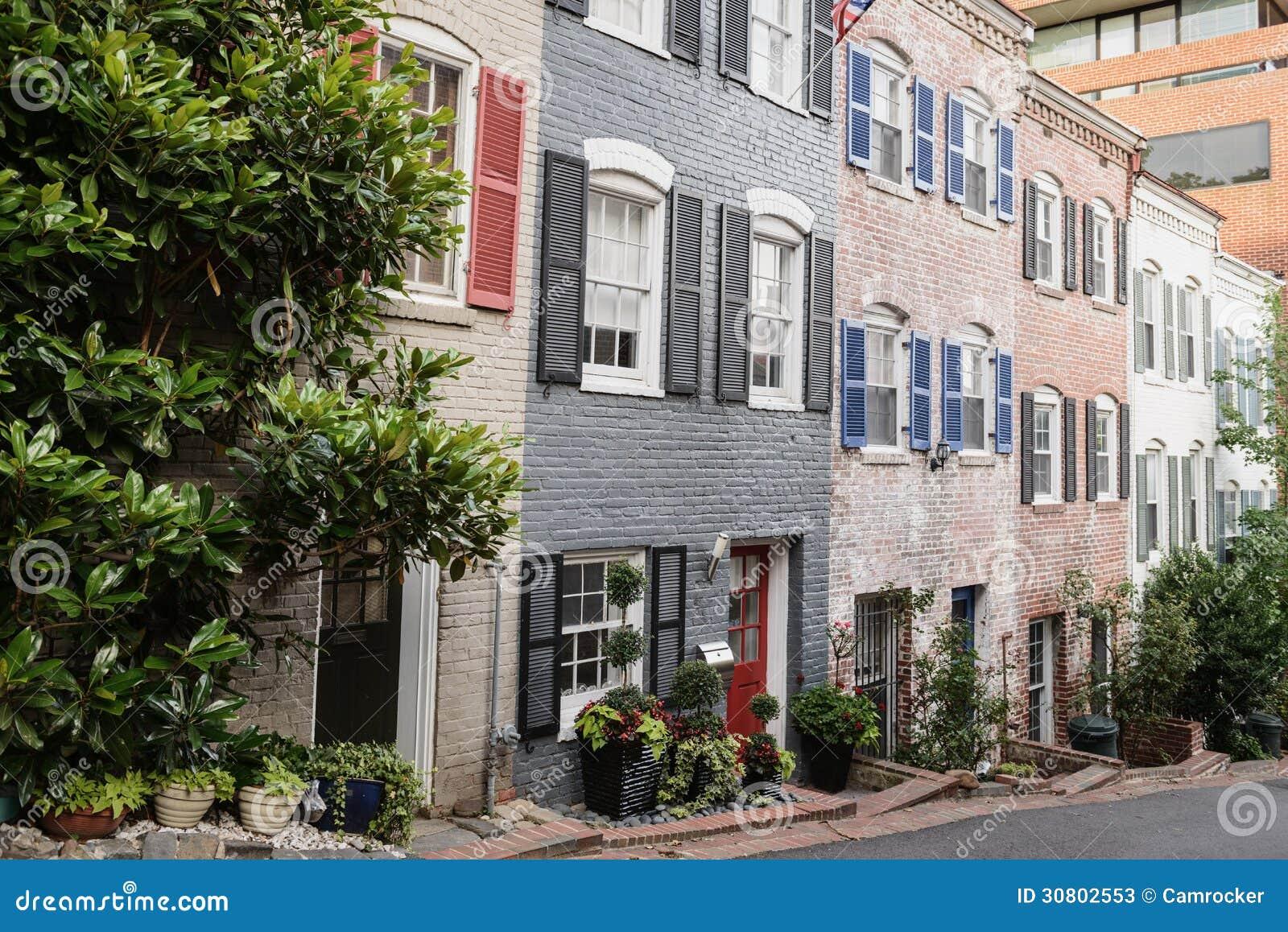 Huizen in de stad in Georgetown, Washington DC