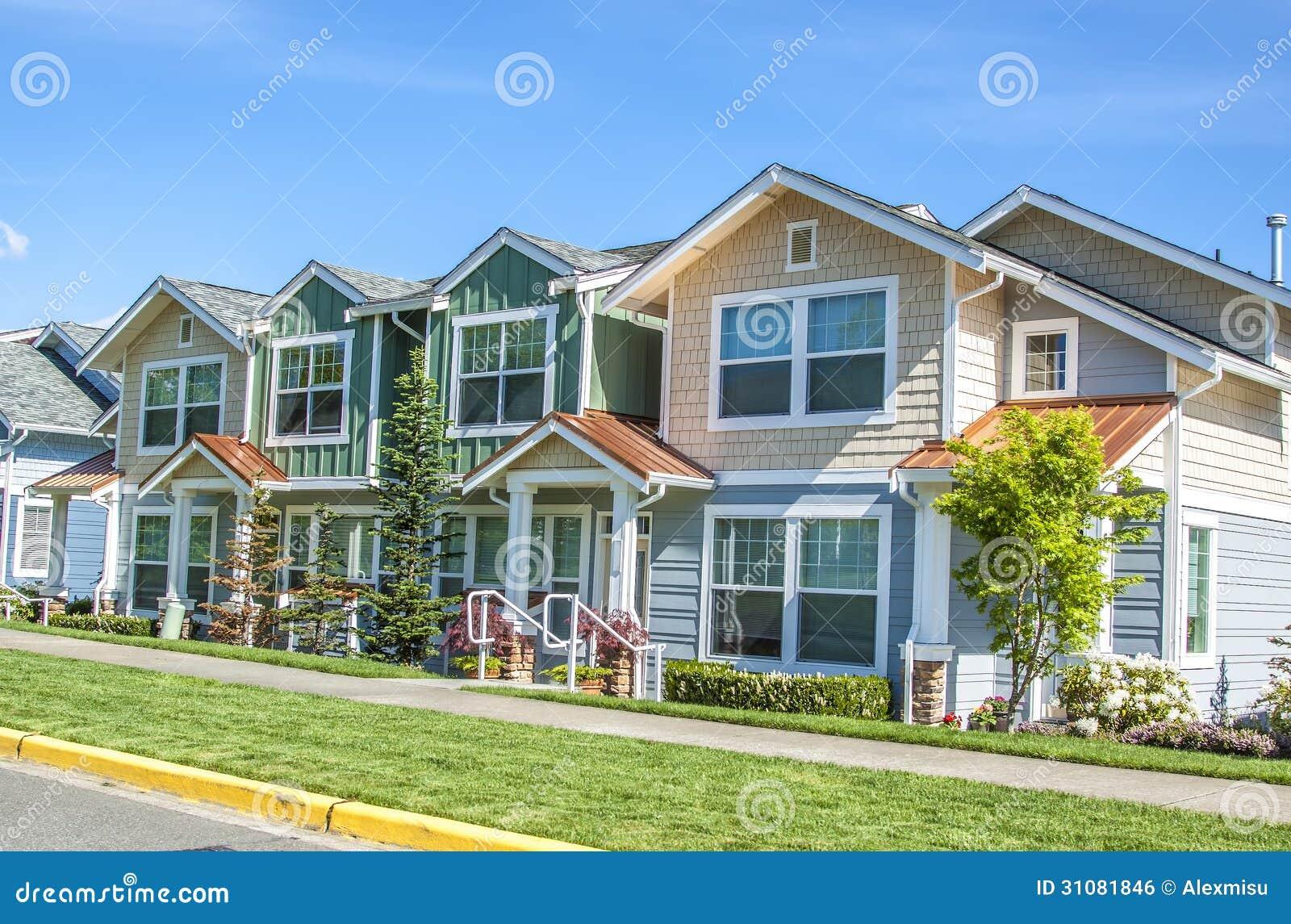 Huizen in de voorsteden