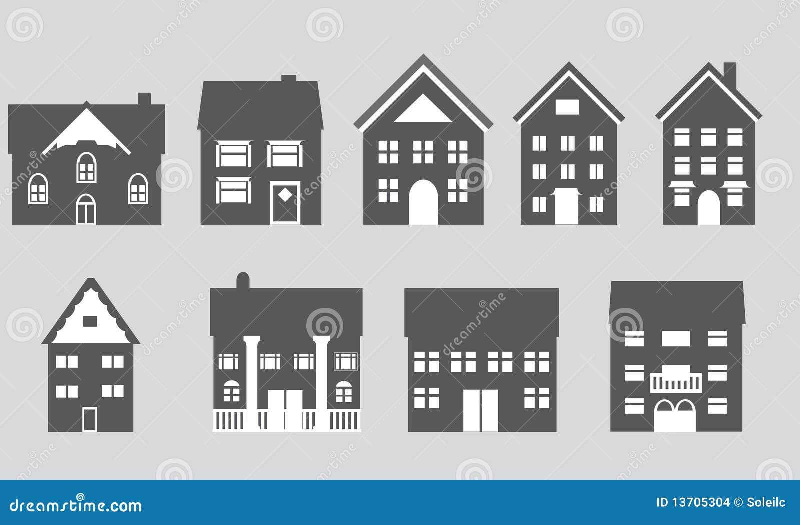 Huizen met verschillende architectuur stock afbeeldingen afbeelding 13705304 - Huizen van de wereldbank ...