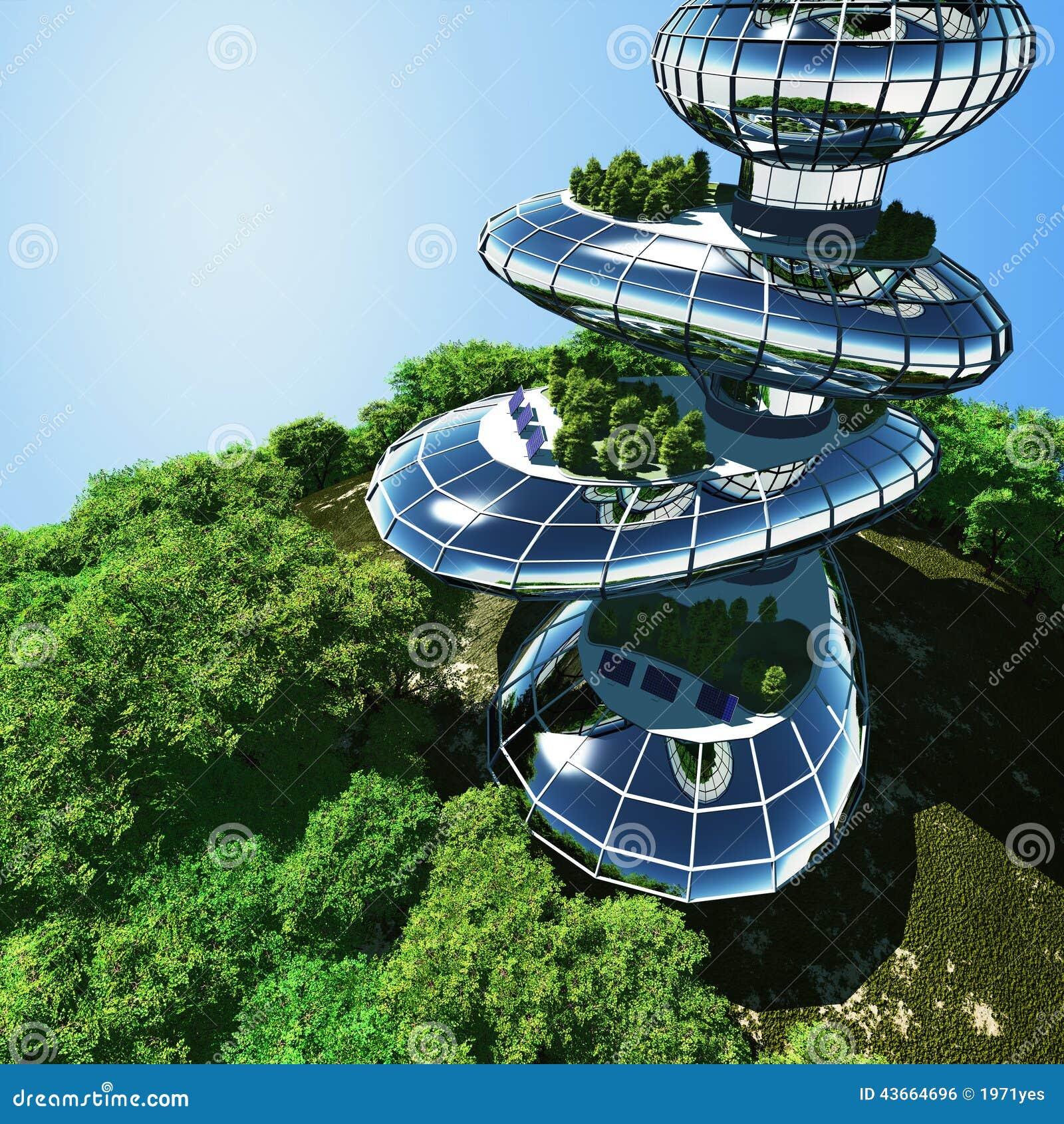 Huizen van de toekomst stock illustratie afbeelding bestaande uit ontwerp 43664696 - Huizen van de wereldbank ...