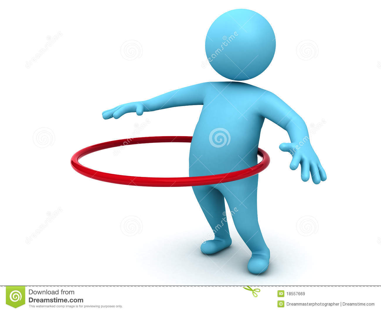 Hula Hoop Exercise Royalty Free Stock Images - Image: 18557669