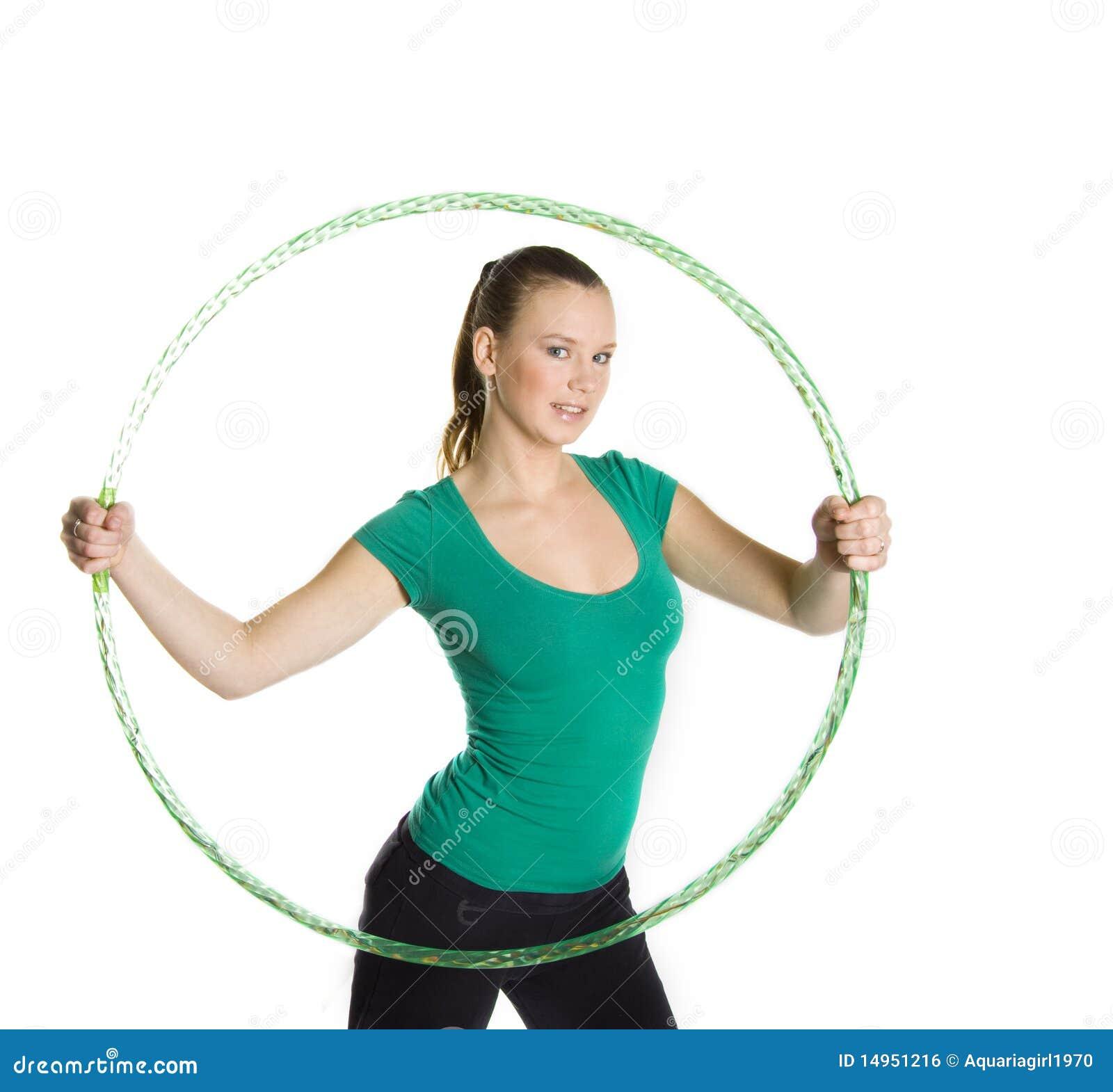 fat girl with a hoop vector illustration 68990630. Black Bedroom Furniture Sets. Home Design Ideas