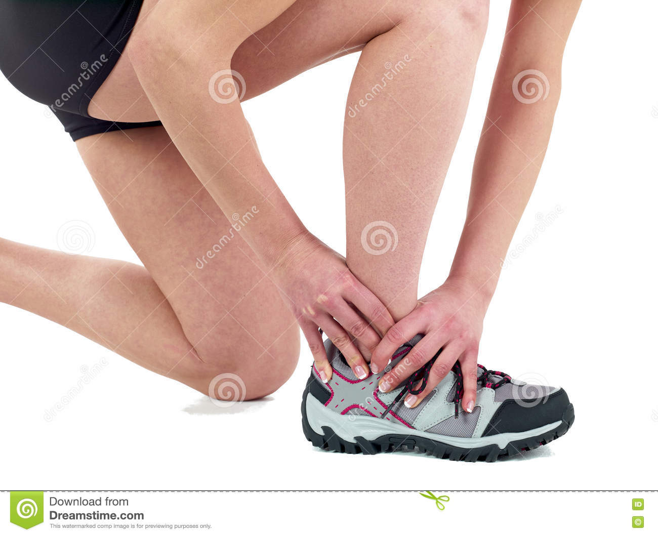 Human Ankle Pain Stock Photo Image Of Inflammation Manipulation