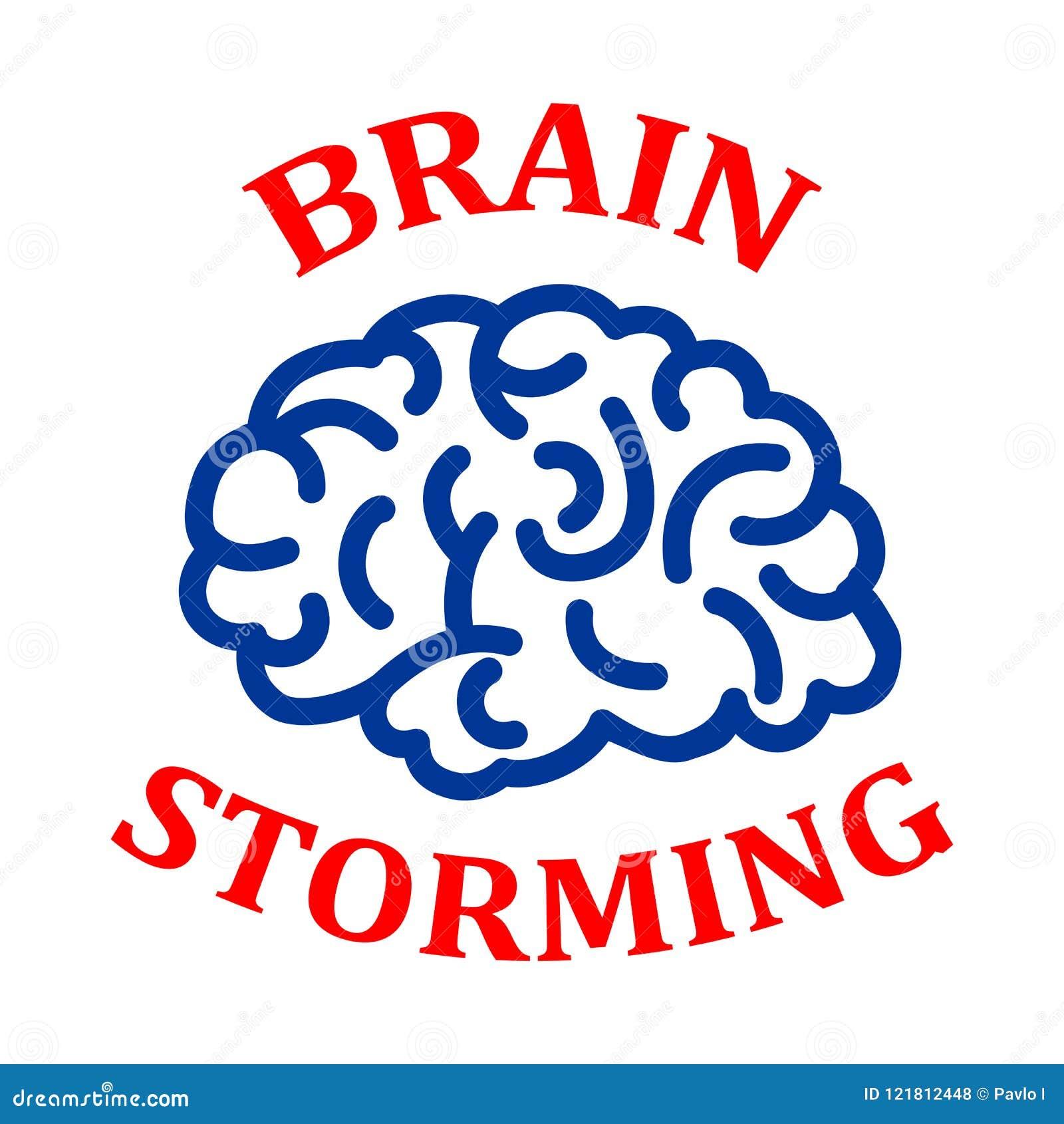 Human brain, brainstorming concept - vector