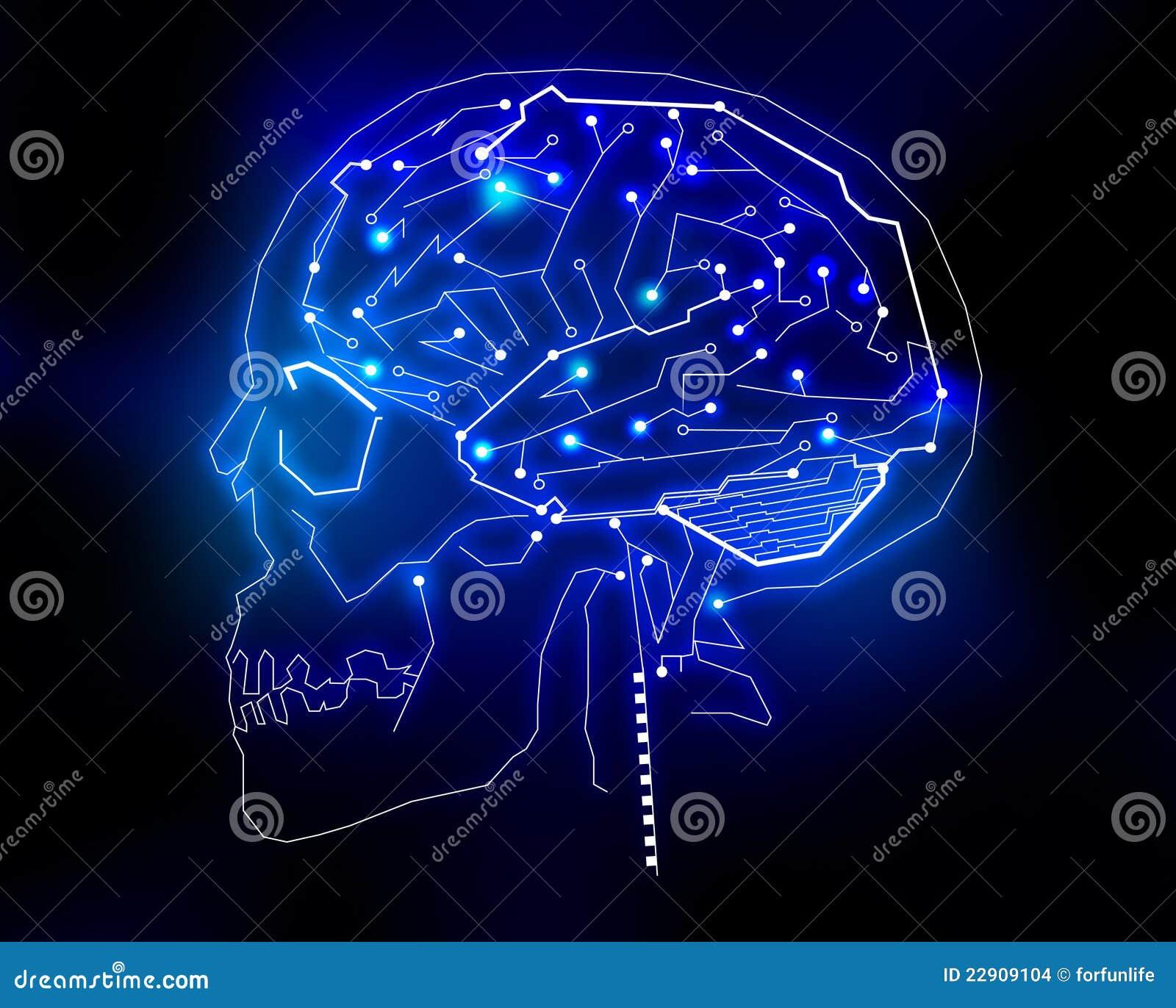 Human brain technology background