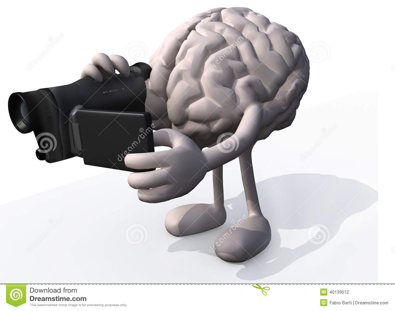 Human Brain Video Maker Stock Illustration Illustration Of