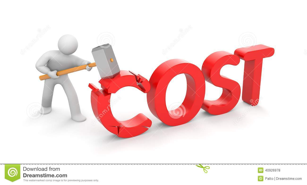 Human Breaks Word Cost. Save Your Money Stock Illustration - Image ...