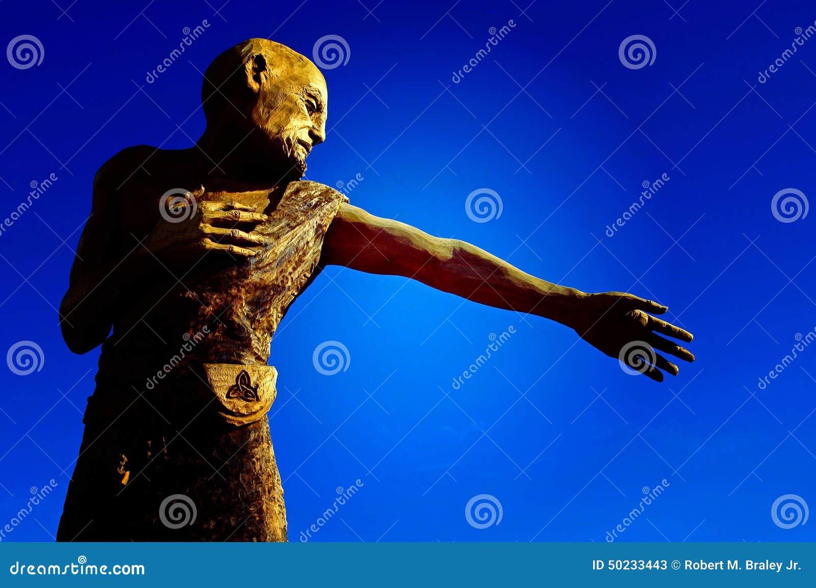 Human Chain Saw Carving
