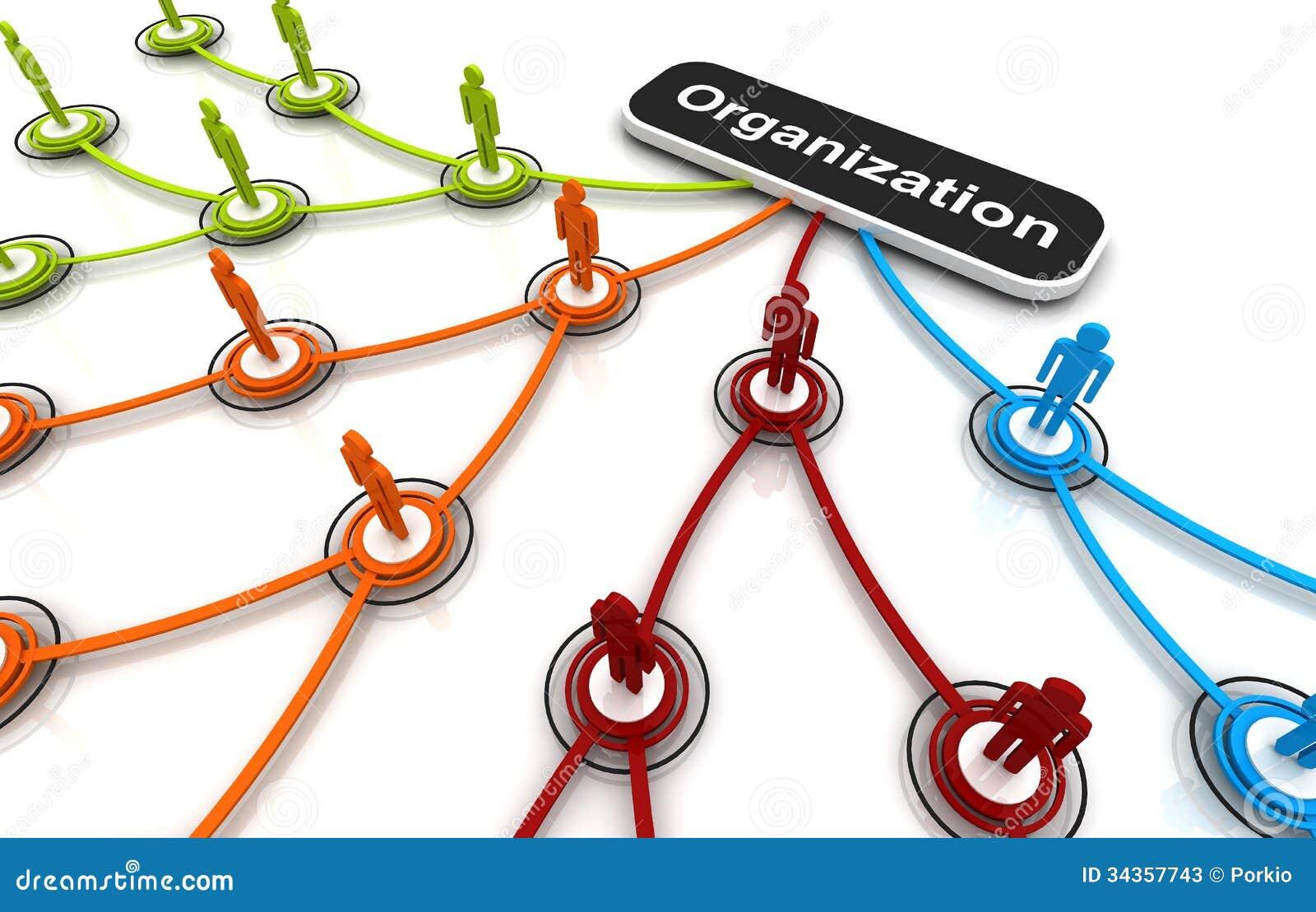 3d organization chart royalty free stock photo image 17230335