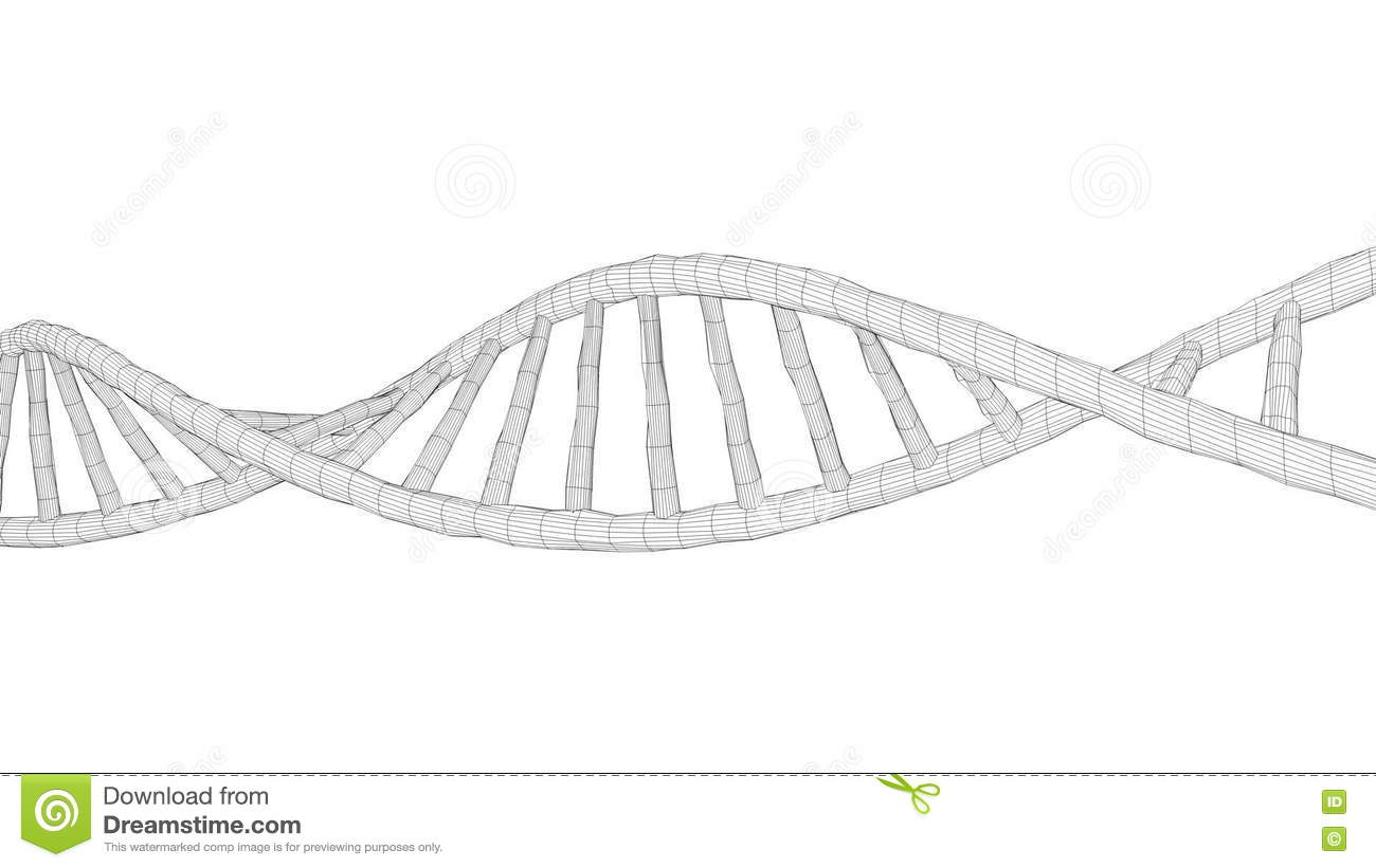 Human DNA 3D Wireframe, Science, Medical, Research. Stock Video ...