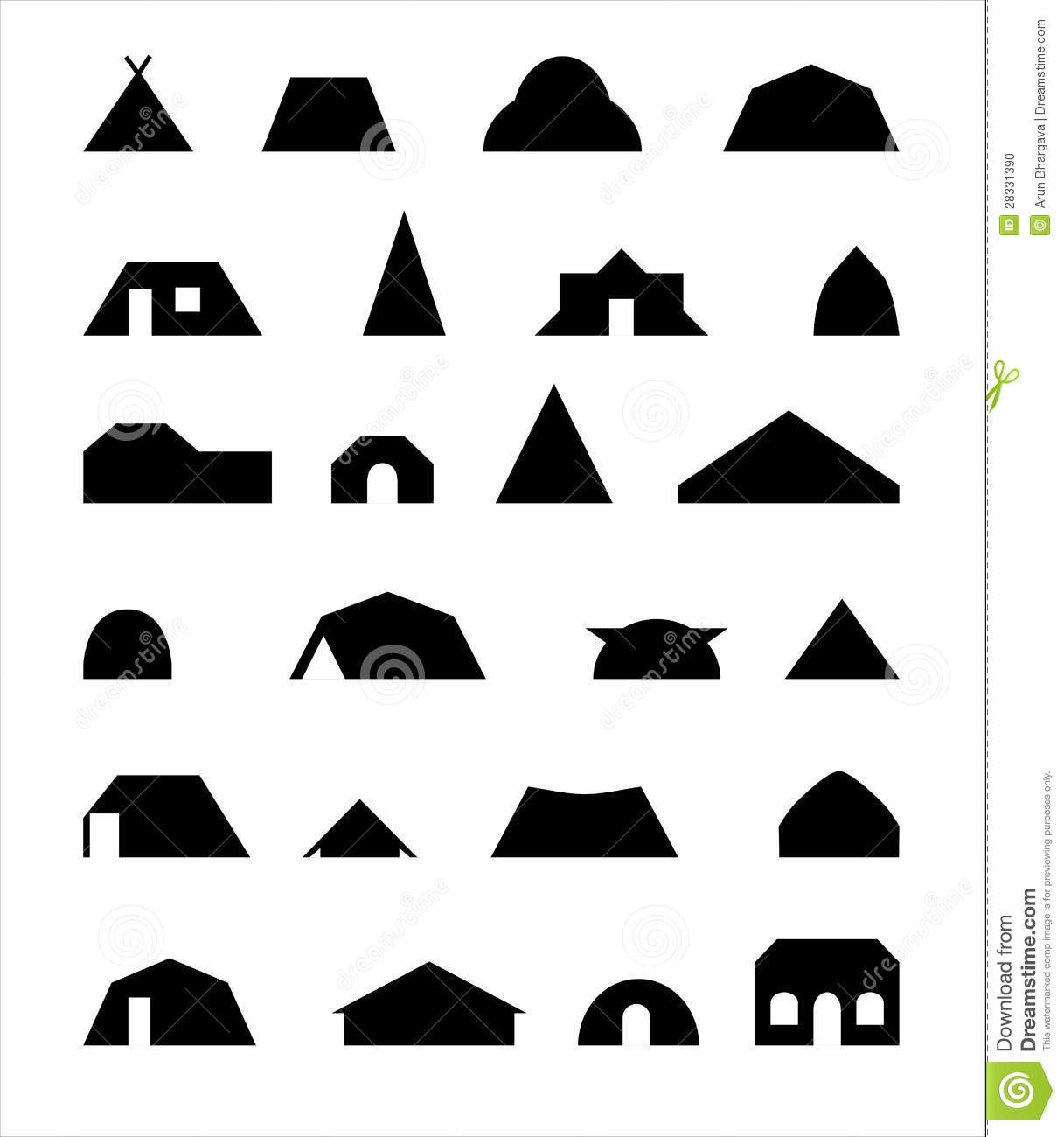 Native homes stock photo image 28331390 for Different shapes of houses