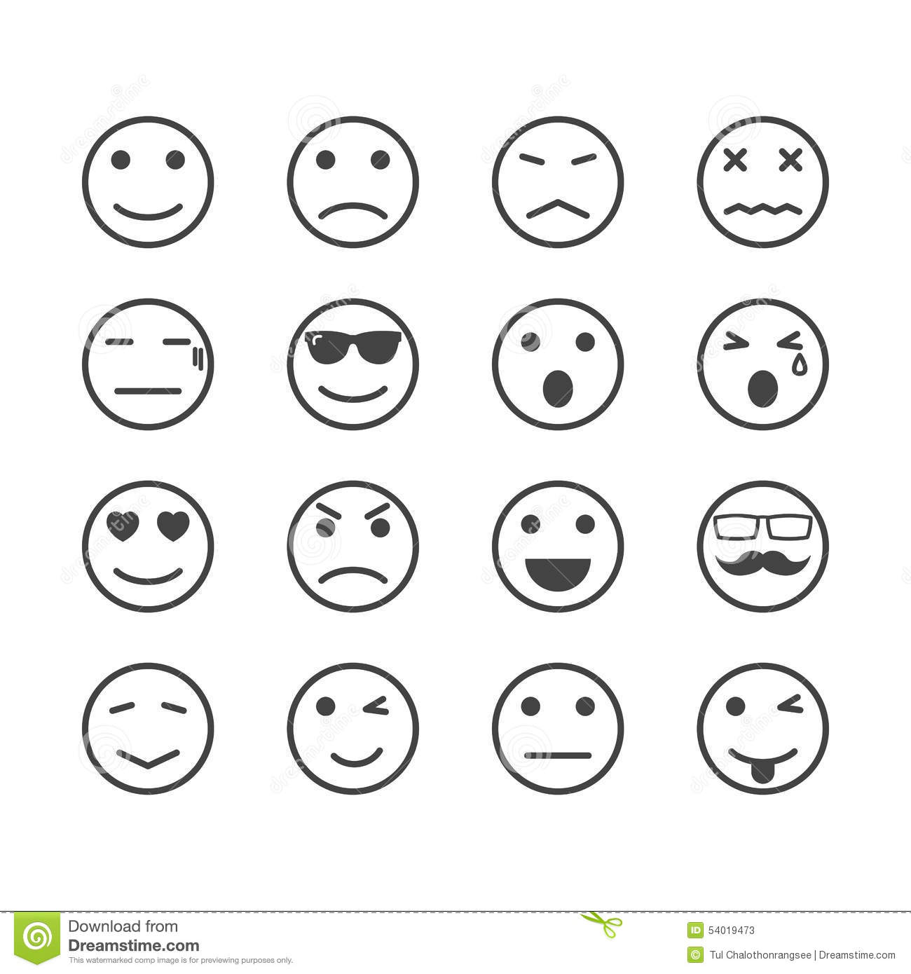 Free Worksheets emotion worksheets : Human emotion icons stock vector. Illustration of angry ...