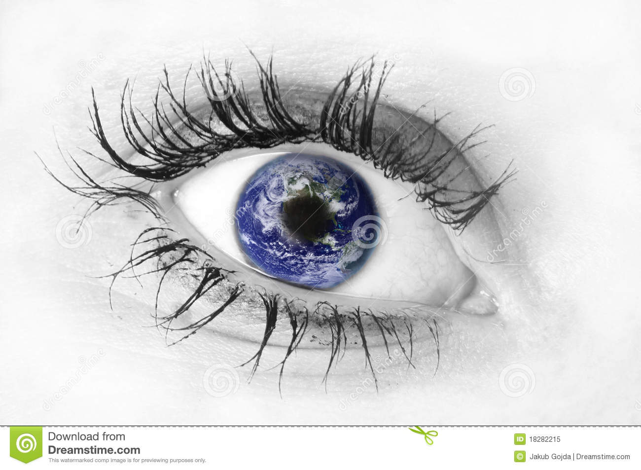 Eye Reflection Black And White Black and white isolated human