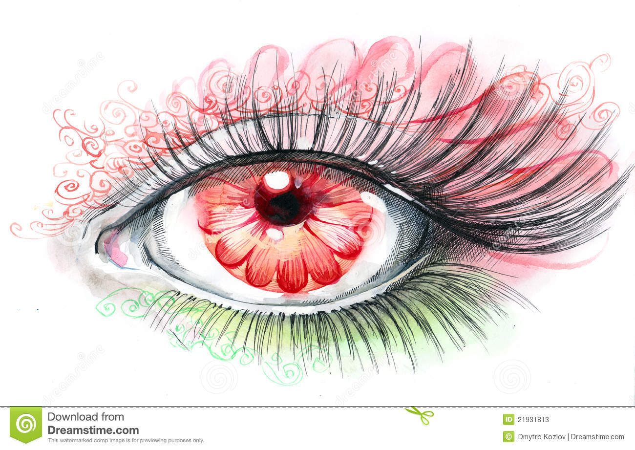 Human Eye With Flower Stock Photos - Image: 21931813