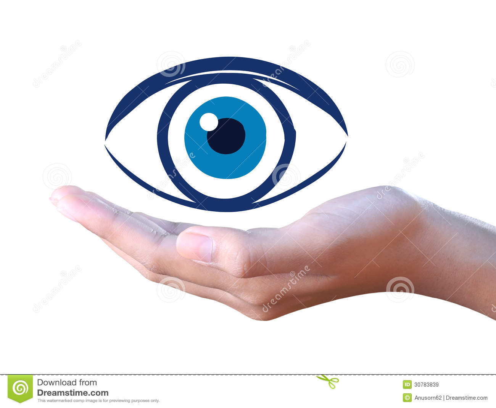 Human Eye In Hand Stock Illustration Illustration Of Hands 30783839