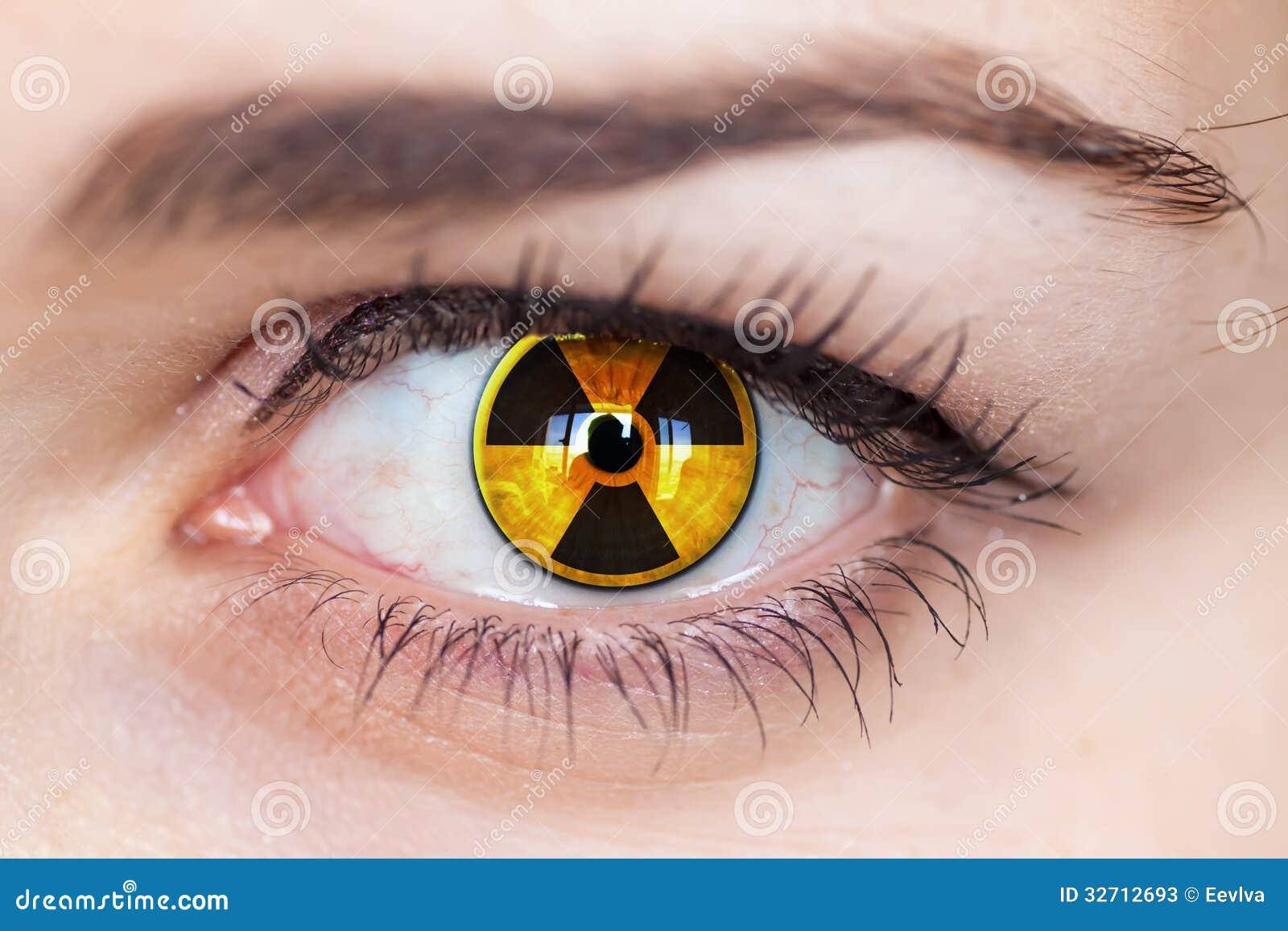 Tenrinissgan - Tenrinissgan Human-eye-radiation-symbol-hazard-concept-photo-32712693
