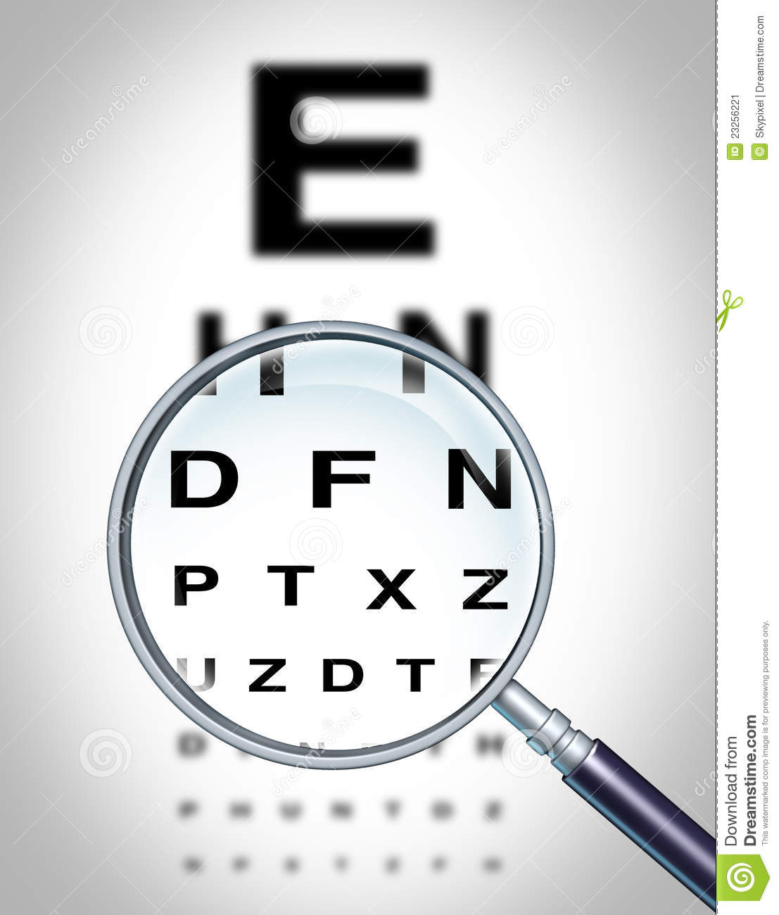 Human Eye Vision Stock Image