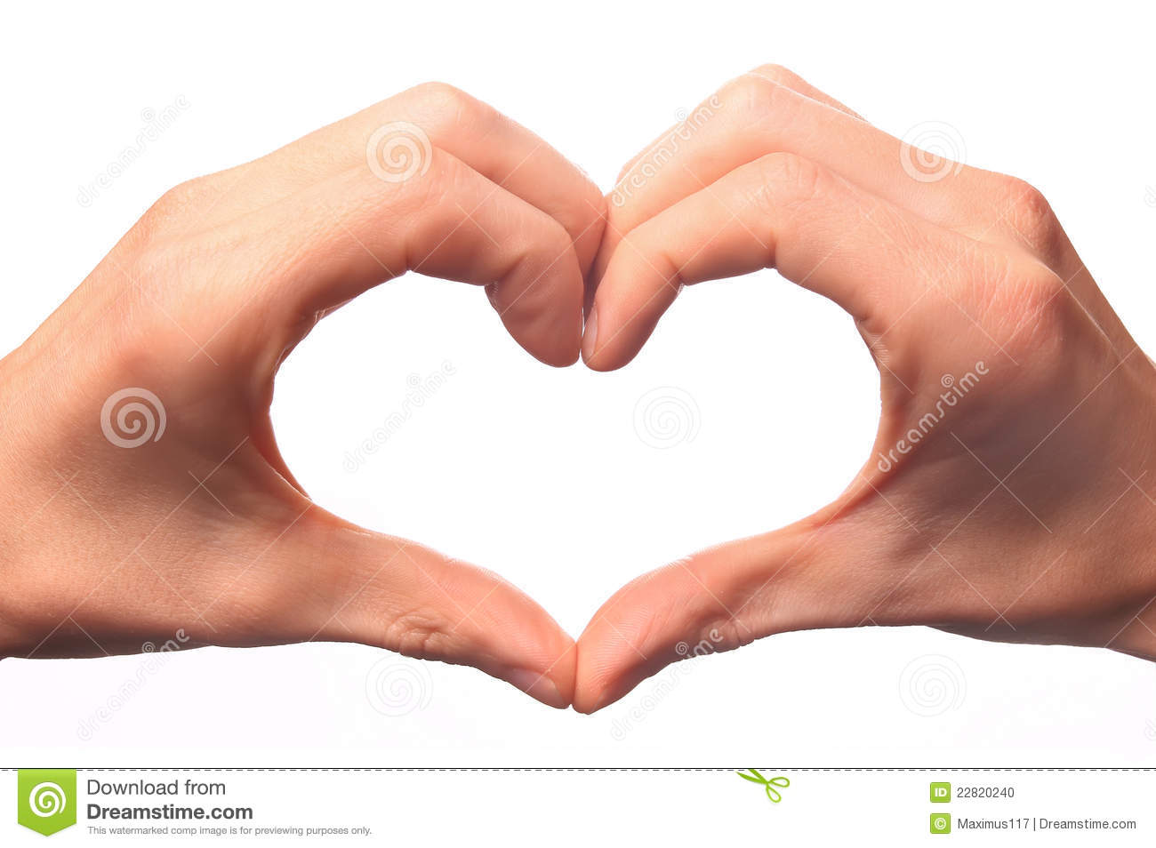 Human Hand Forming A Love Symbol Stock Photo - Image: 22820240
