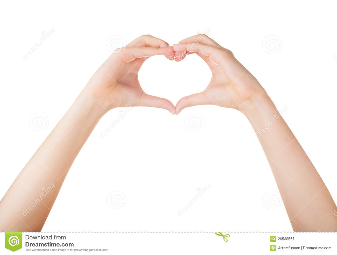 Human Hand Heart Royalty Free Stock Photography - Image: 26538567