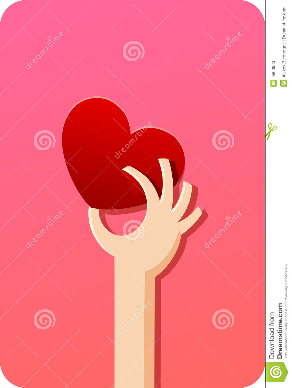 Human hand and heart | Concepts series