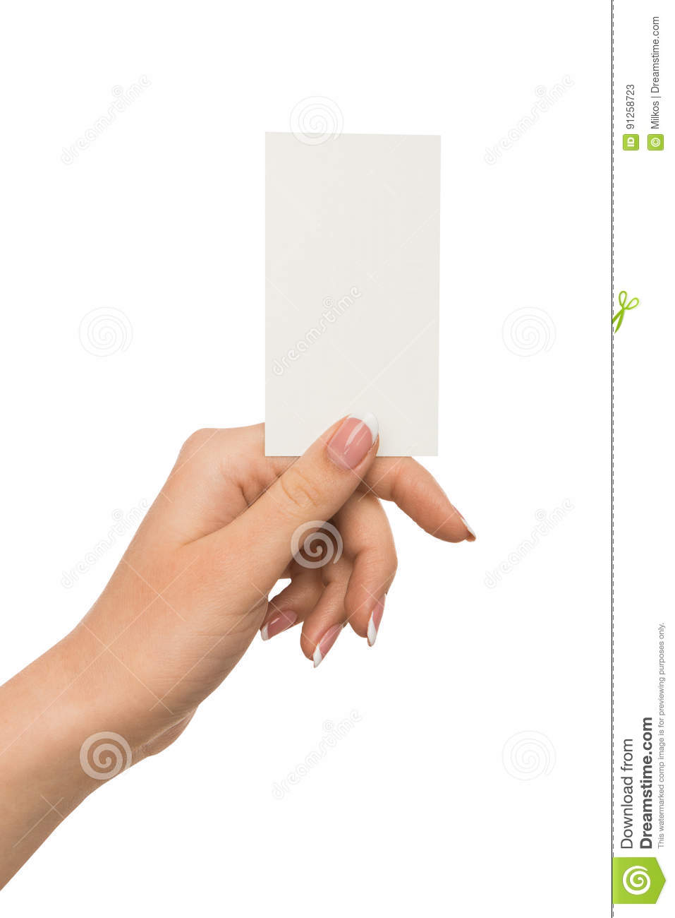 Human hand holding blank card for text message stock image image business and advertisement human hand holding blank card for text message isolated on white copy space close up colourmoves