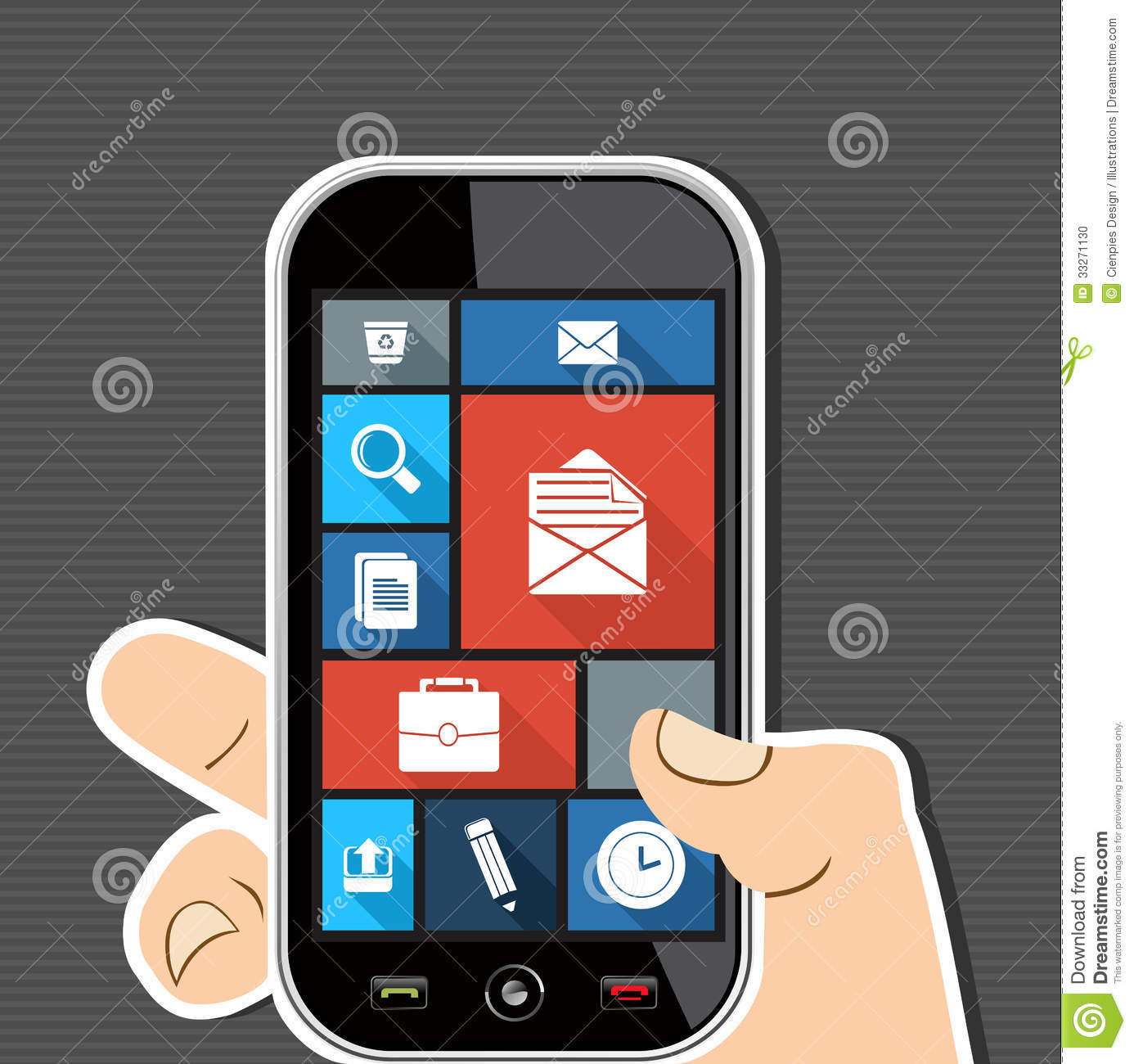 Human Hand Mobile Colorful Office UI Apps Flat Ico Stock ...