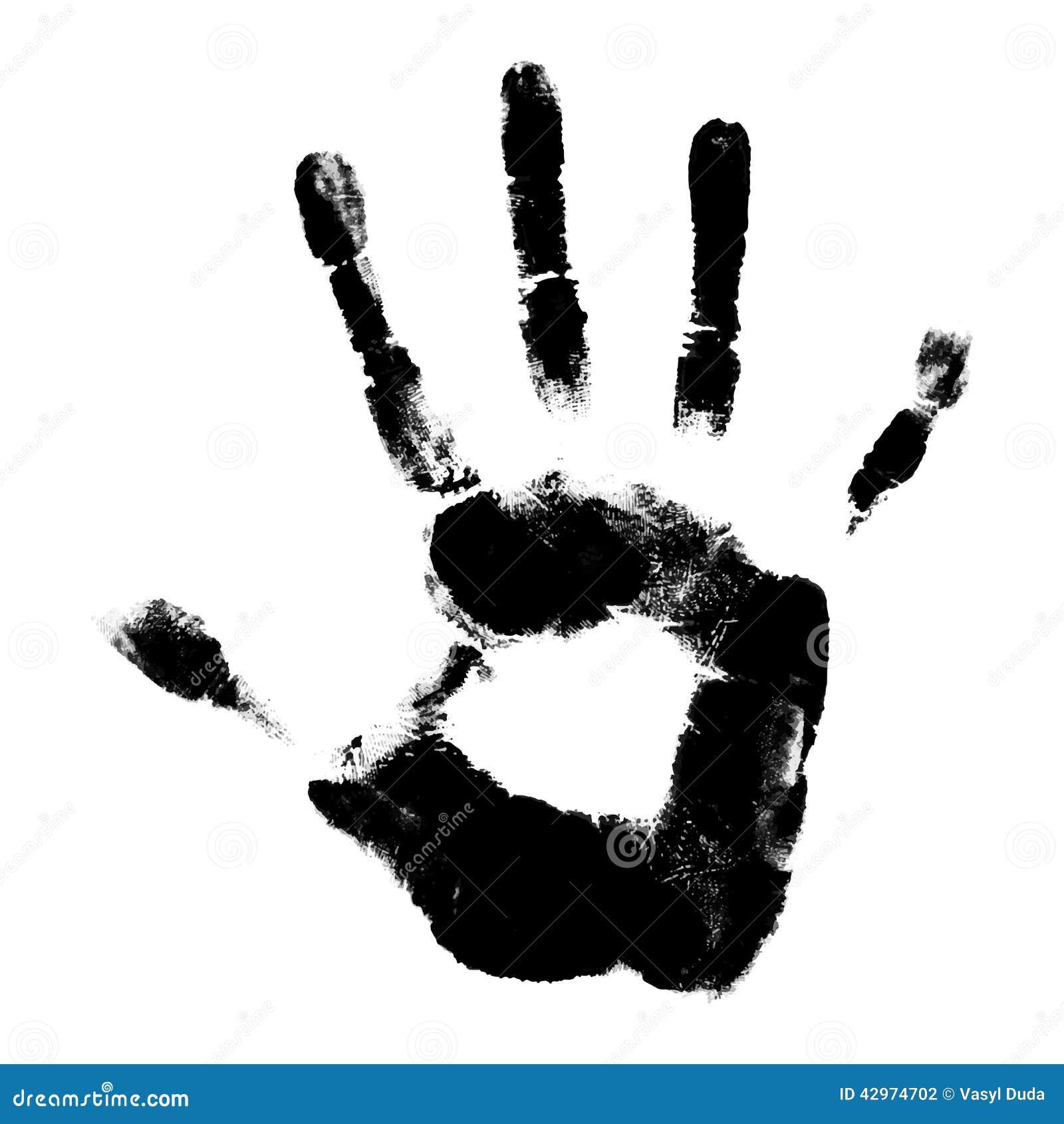 human hand print stock vector illustration of element 42974702