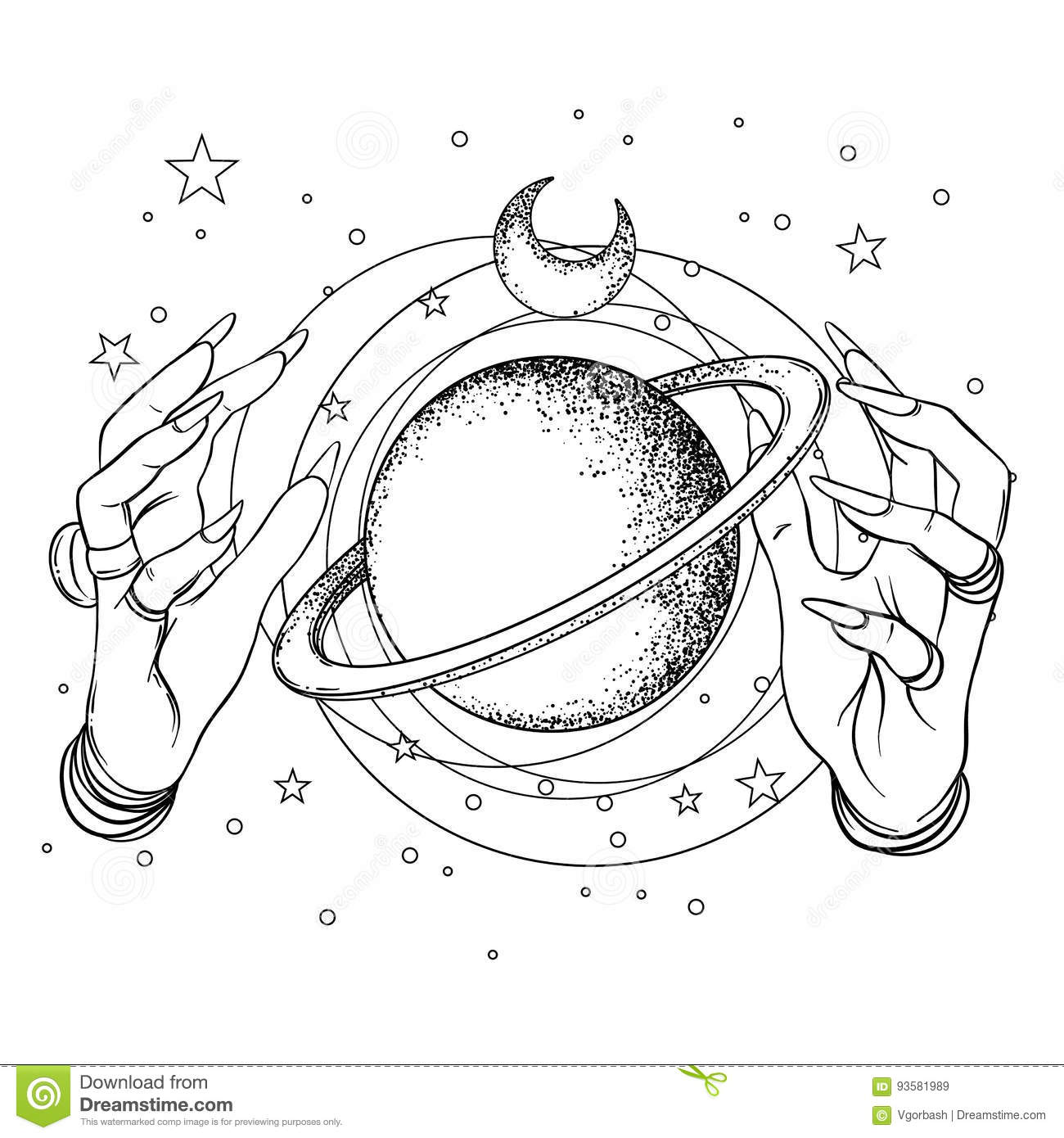 Tatto stock illustrations 977 tatto stock illustrations vectors human hand with space and sacred geometry symbols dotwork tatto o flash design buycottarizona Images