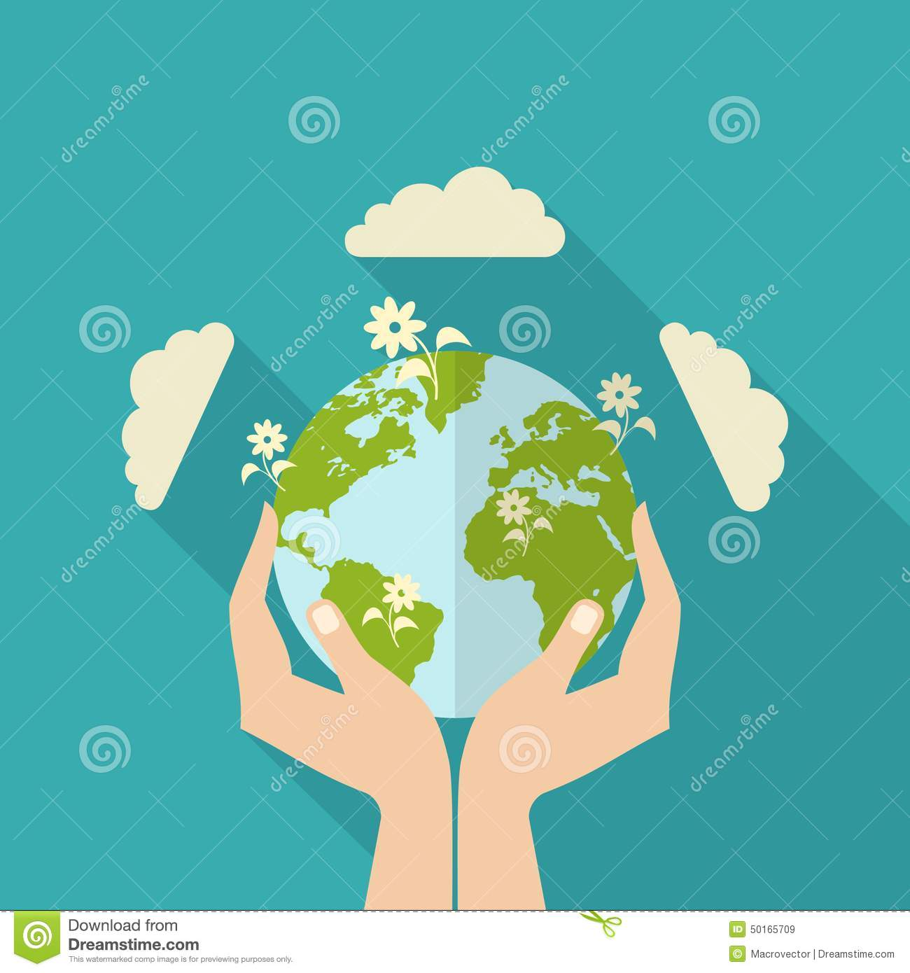 Human Hands Holding Globe stock vector. Illustration of ...