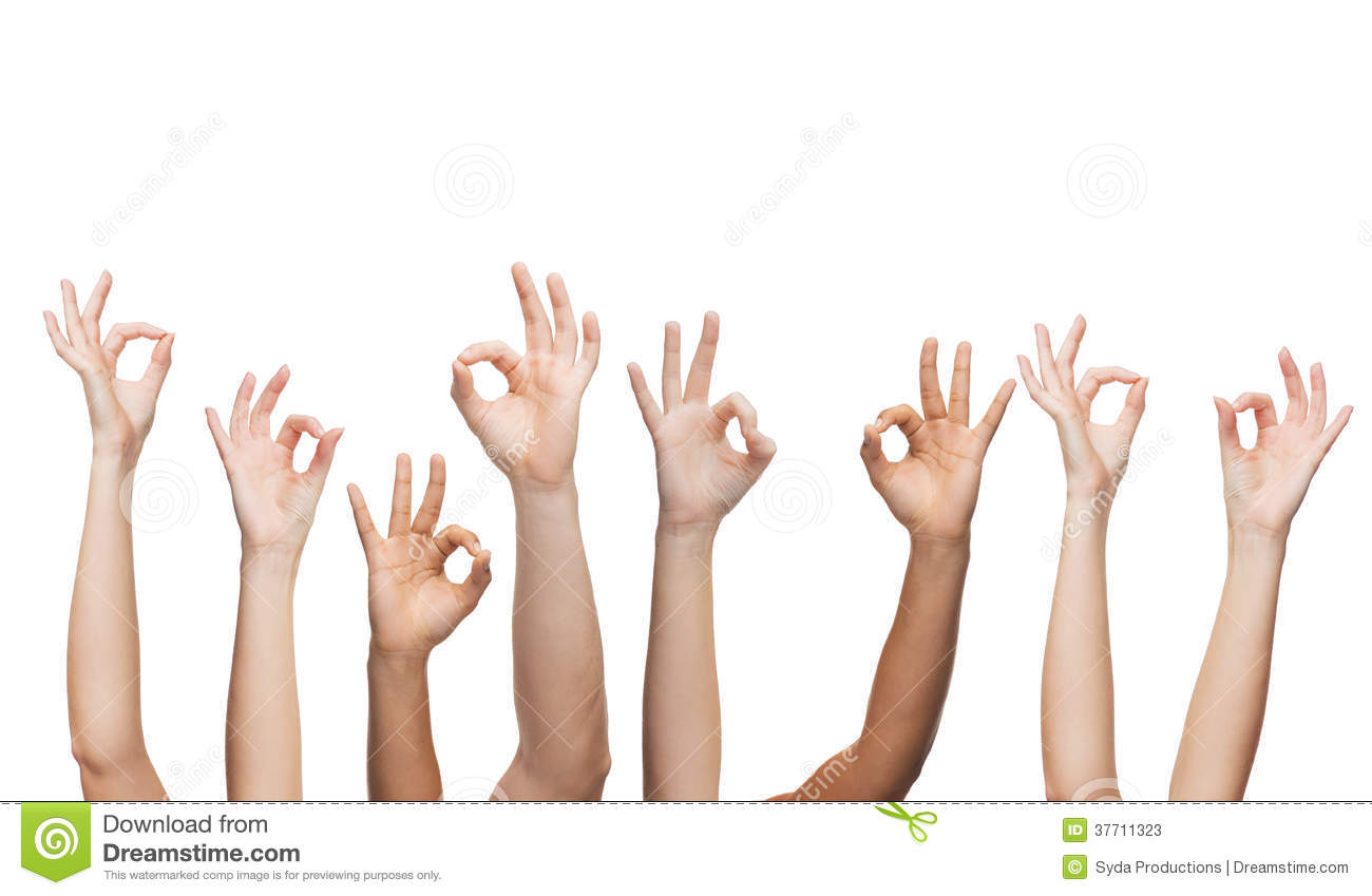 Human Hands Showing Ok Sign Stock Image - Image: 37711323
