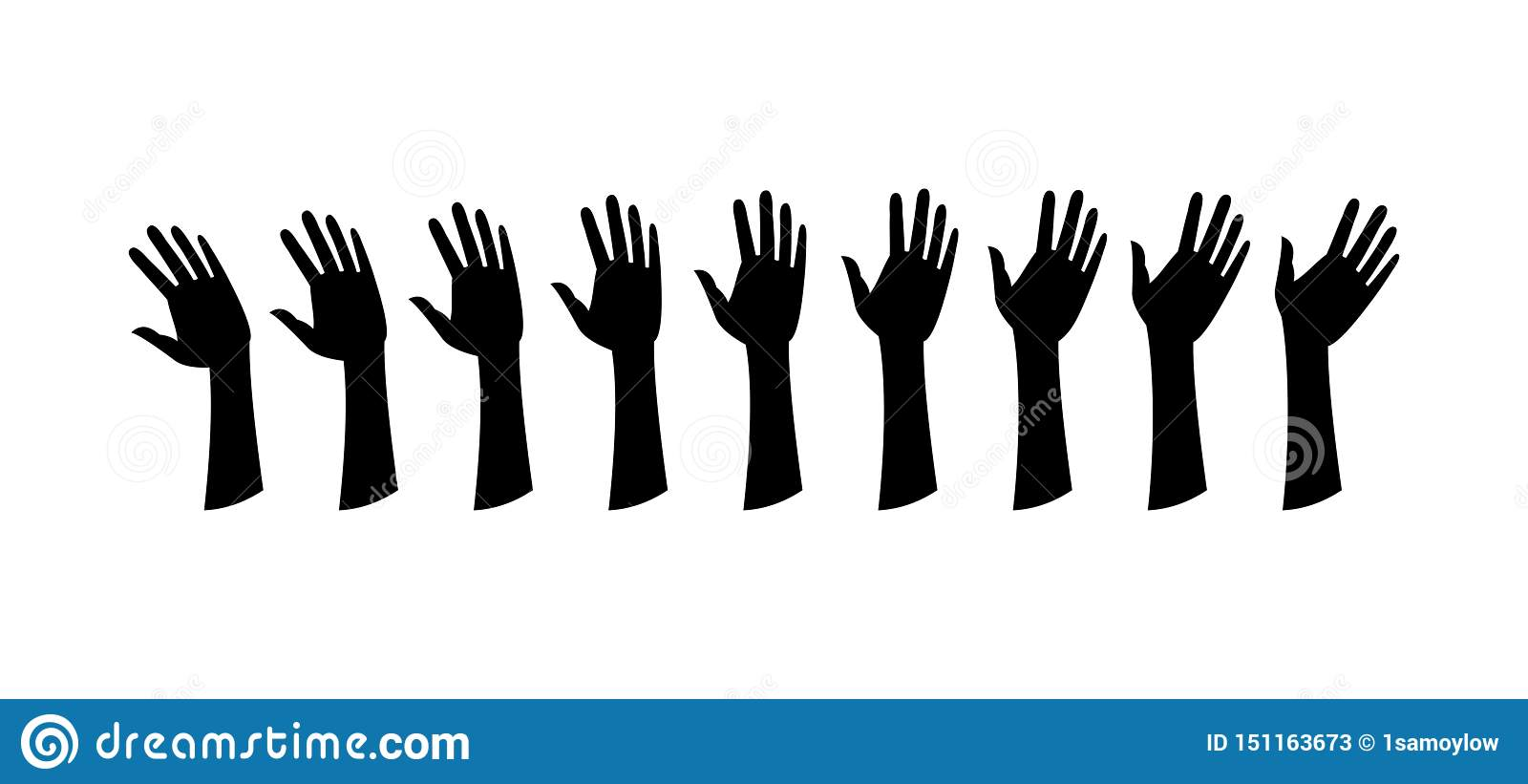 Human hands, wave the hand