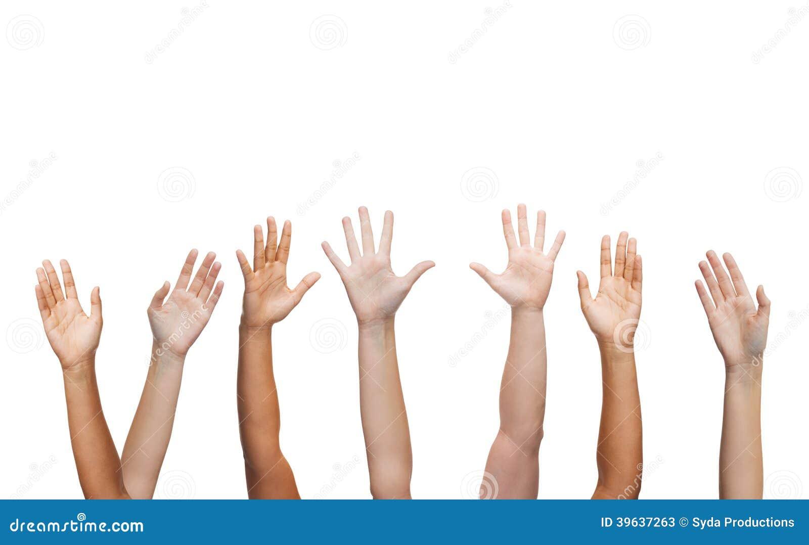 Human hands waving hands stock image. Image of gesture ...