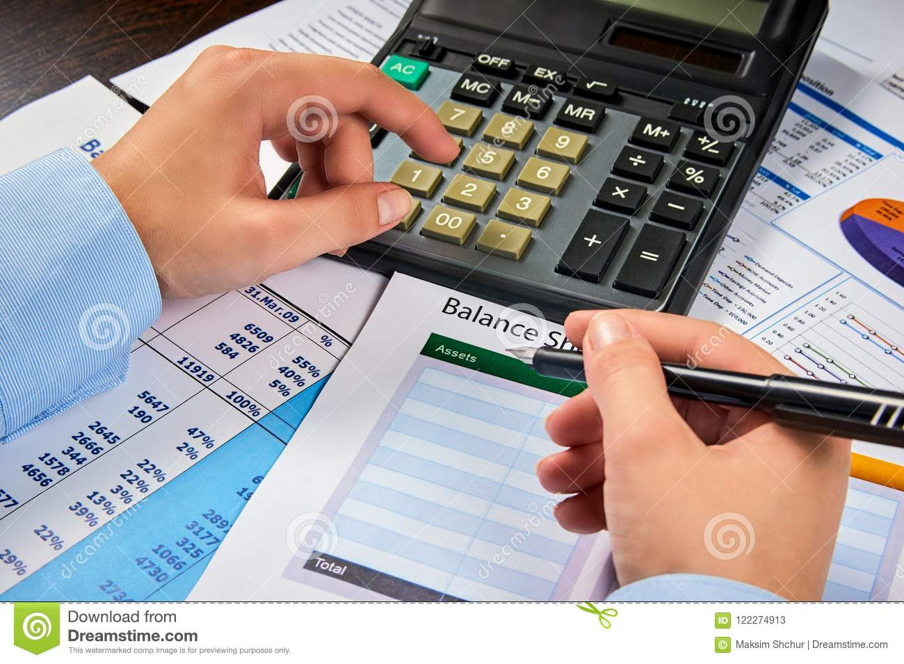 count in balance sheet summary stock image image of chart growth