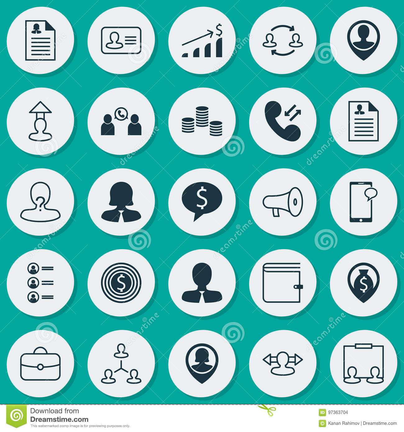 Human Icons Set. Collection Of Talking, Curriculum Vitae, Woman ...