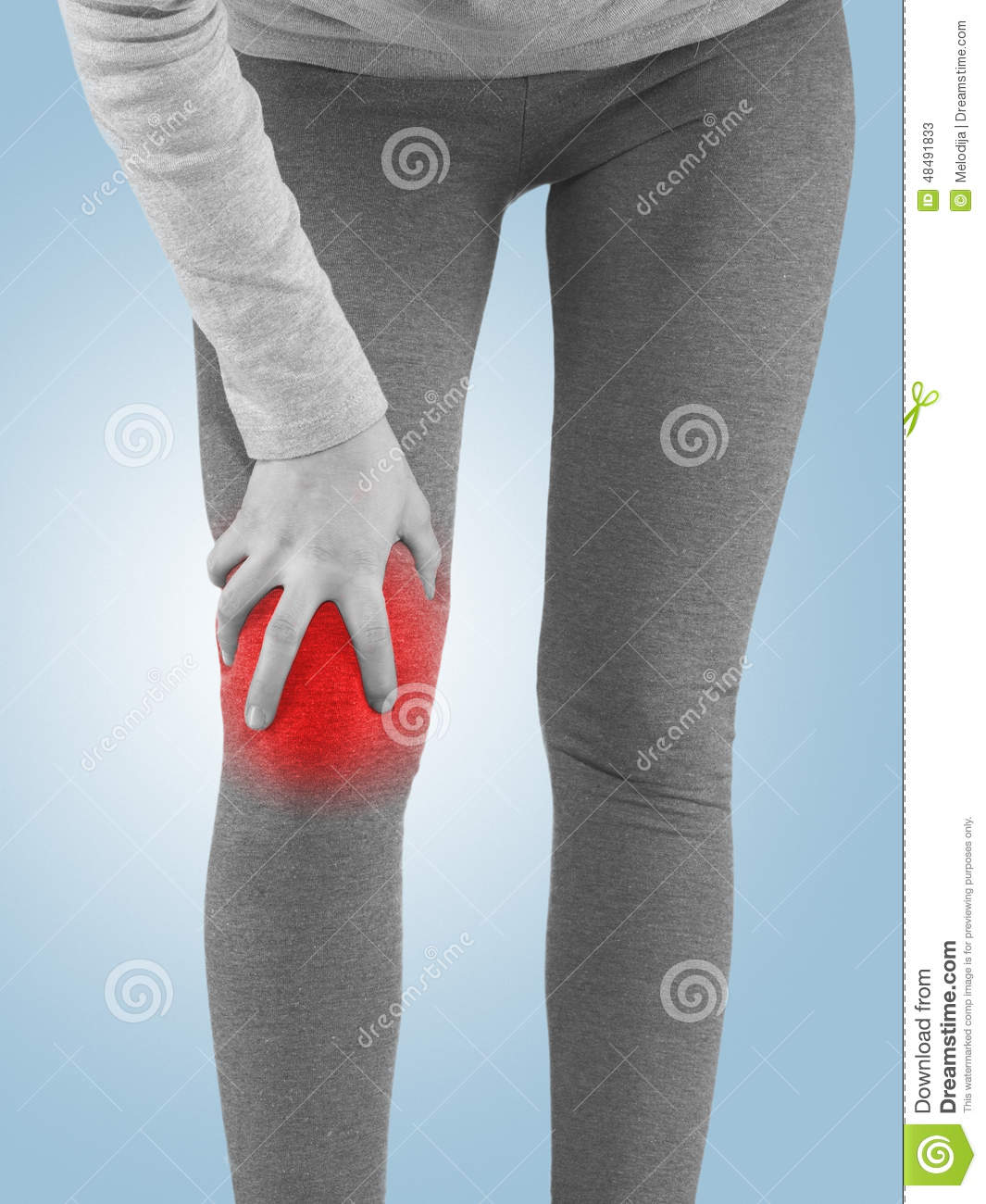 Human Knee Pain Joint Problem Medical Health Care Concept. Stock ...