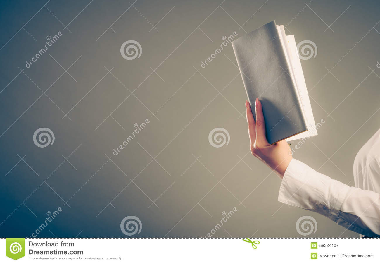 Human learning reading book. Education leisure.