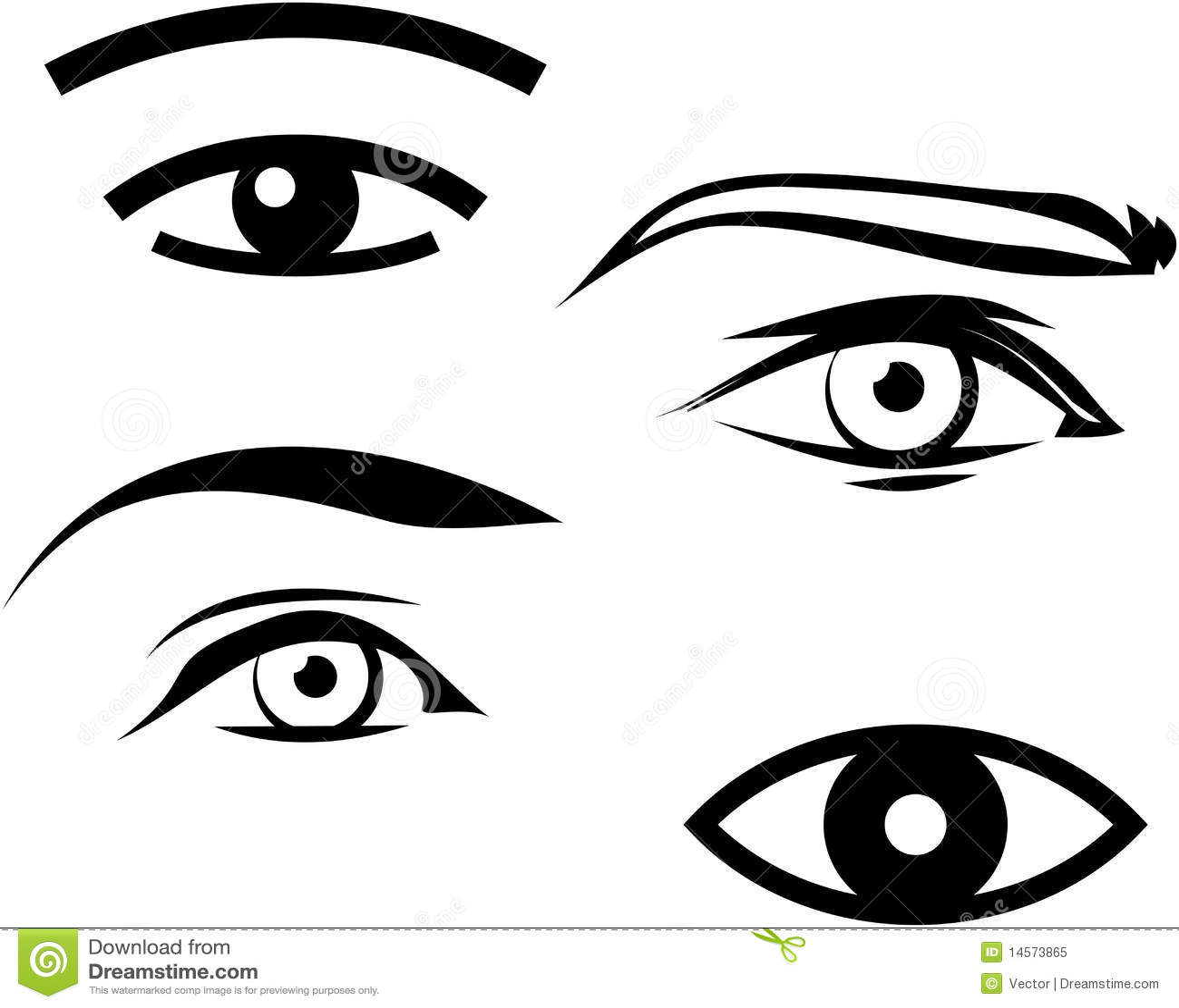 human male and female eyes illustration stock vector illustration rh dreamstime com vector eyeball vector eye silhouette