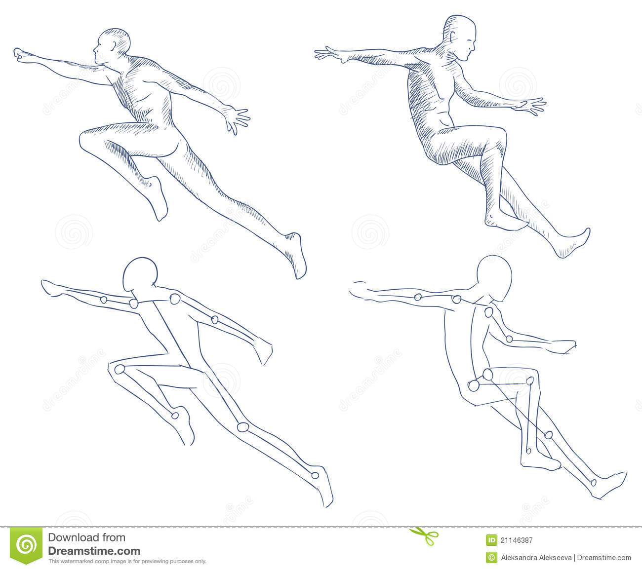how to draw a person in motion