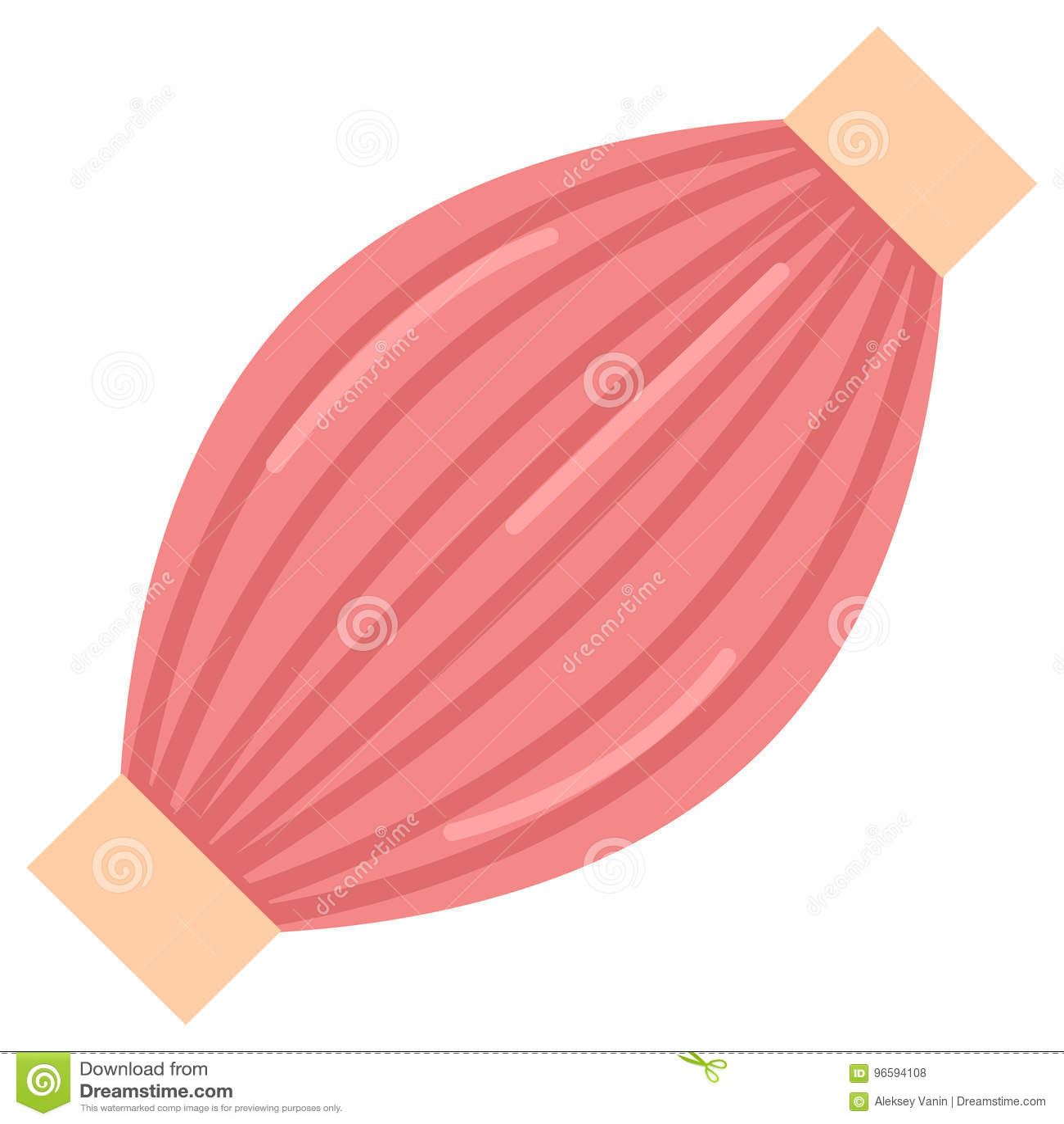 Human Muscle Icon Vector Illustration Stock Vector Illustration