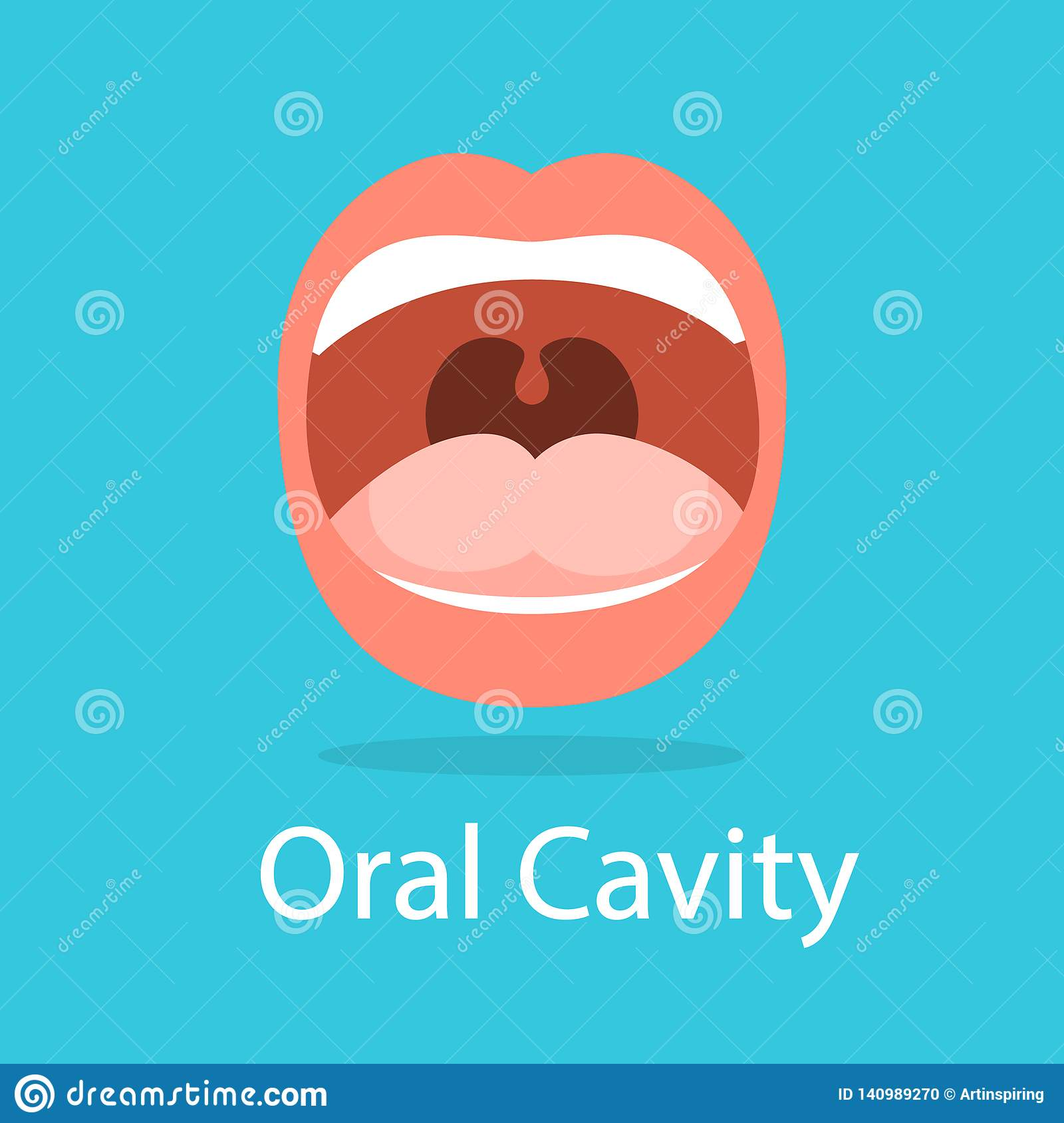 Human Oral Cavity  Opened Mouth  Idea Of Dental Stock Vector