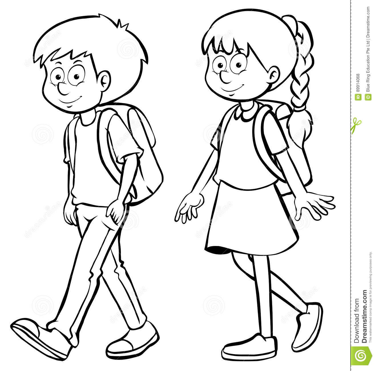 outline of a boy and girl goal blockety co